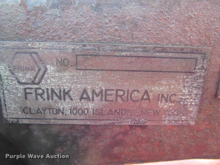 frink snow plow parts by serial number