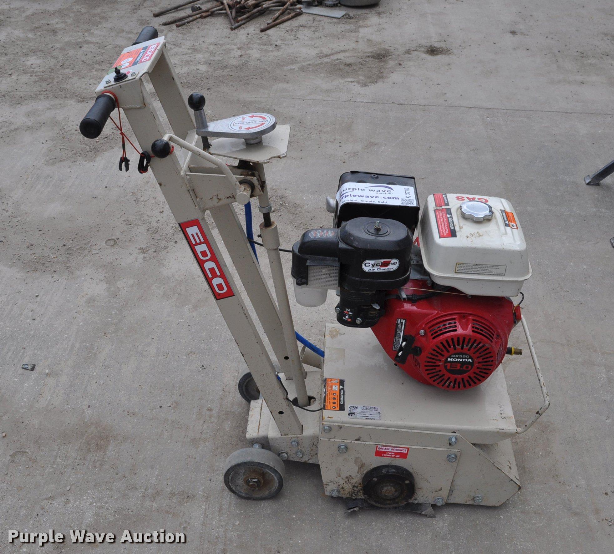 Edco CPM10-13H concrete groove grinder   Item K3770   SOLD!