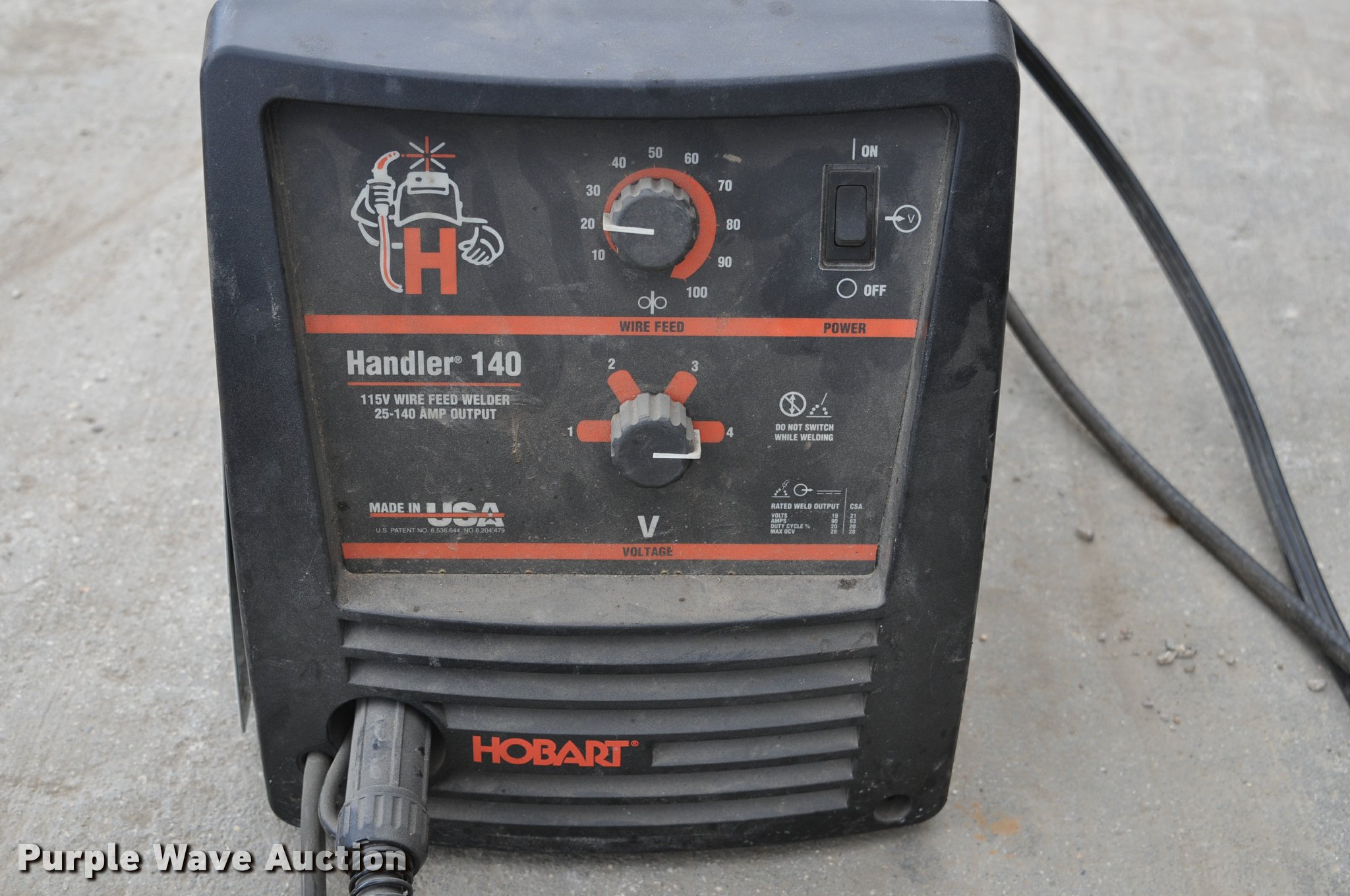 Hobart Handler 140 wire feed welder | Item K3775 | SOLD! May...