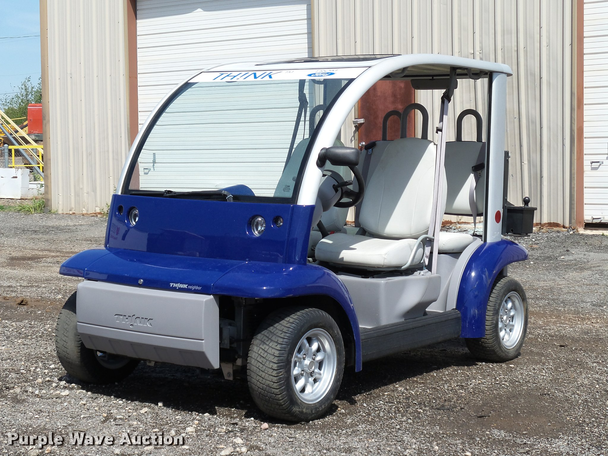 2002 Ford Think Neighbor golf cart | Item DB0181 | SOLD! May... Electric Ford Golf Cart on ford raptor golf cart, 56 ford golf cart, ford golf cart body kit, ford th!nk automobile, ford electric air compressor, 40 ford golf cart, 2002 ford golf cart, ford mustang golf cart, 32 ford golf cart, ford custom golf carts, buick golf cart, ford electric scooter, ford motor golf carts, ford golf carts florida, camaro golf cart, 1932 ford golf cart, ford solar golf cart, thunderbird golf cart, new ford truck golf cart, ford golf cart bodies,