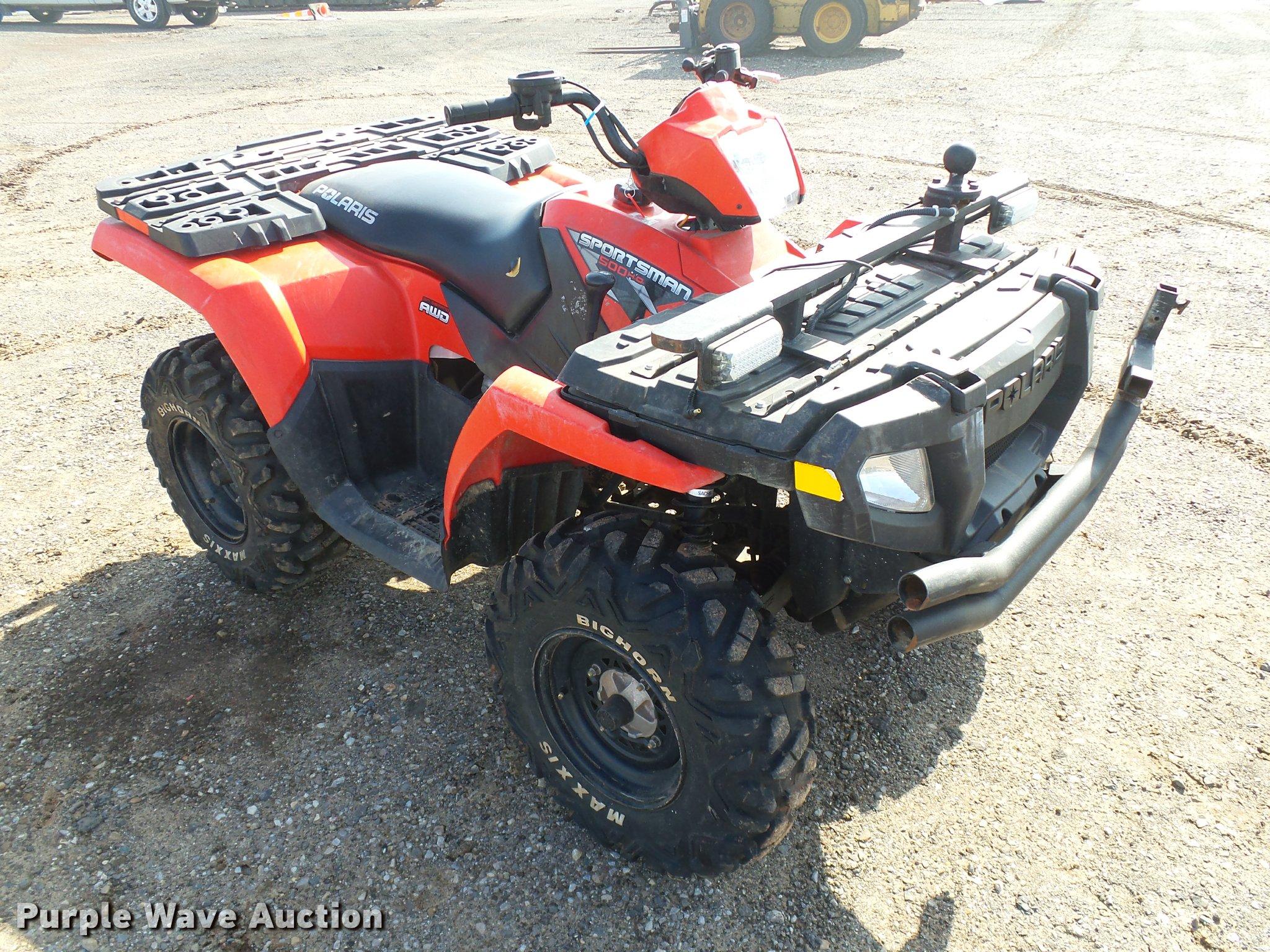 2010 Polaris Sportsman 500 ATV | Item DB0220 | SOLD! May 24