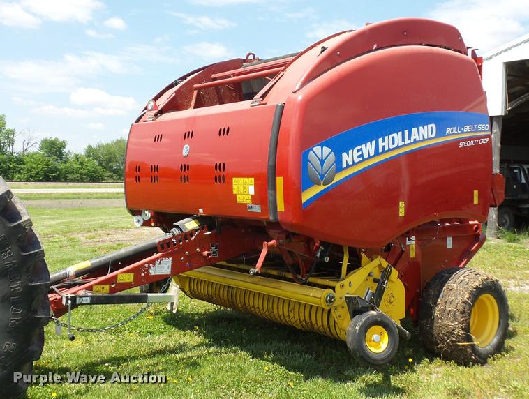 2014 New Holland Rollbelt 560 specialty crop baler | Item DD