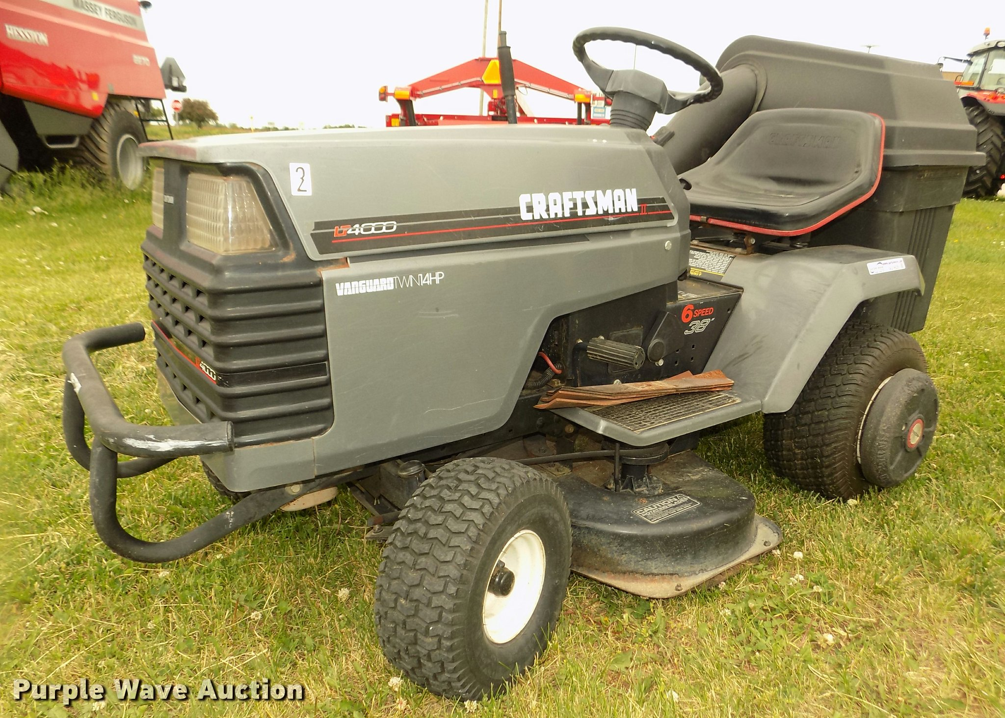 Sears Craftsman LT4000 lawn mower | Item AU9529 | SOLD! June...