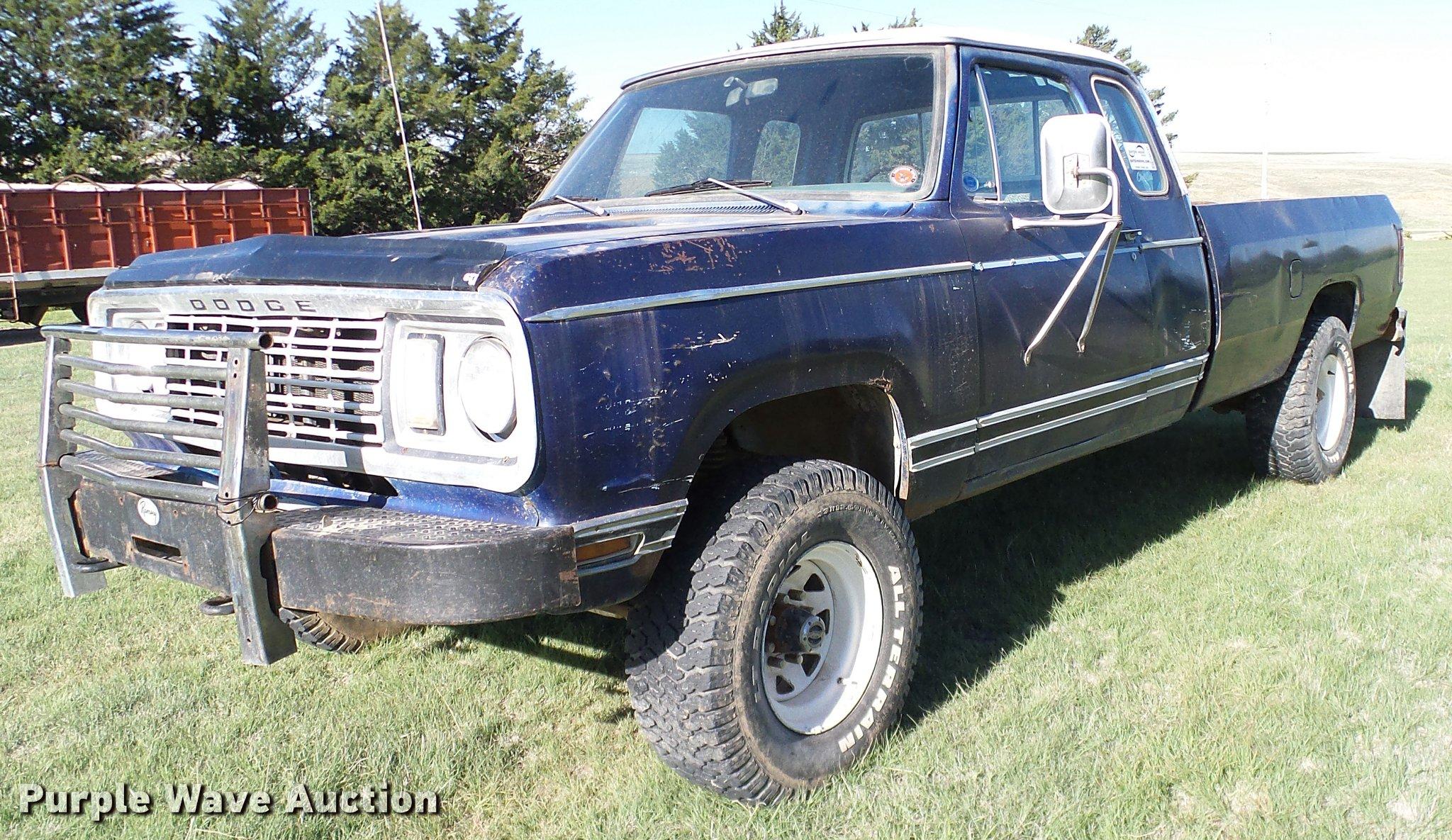 1978 Dodge Power Wagon W200 Pickup Truck Item Da6193 Sol