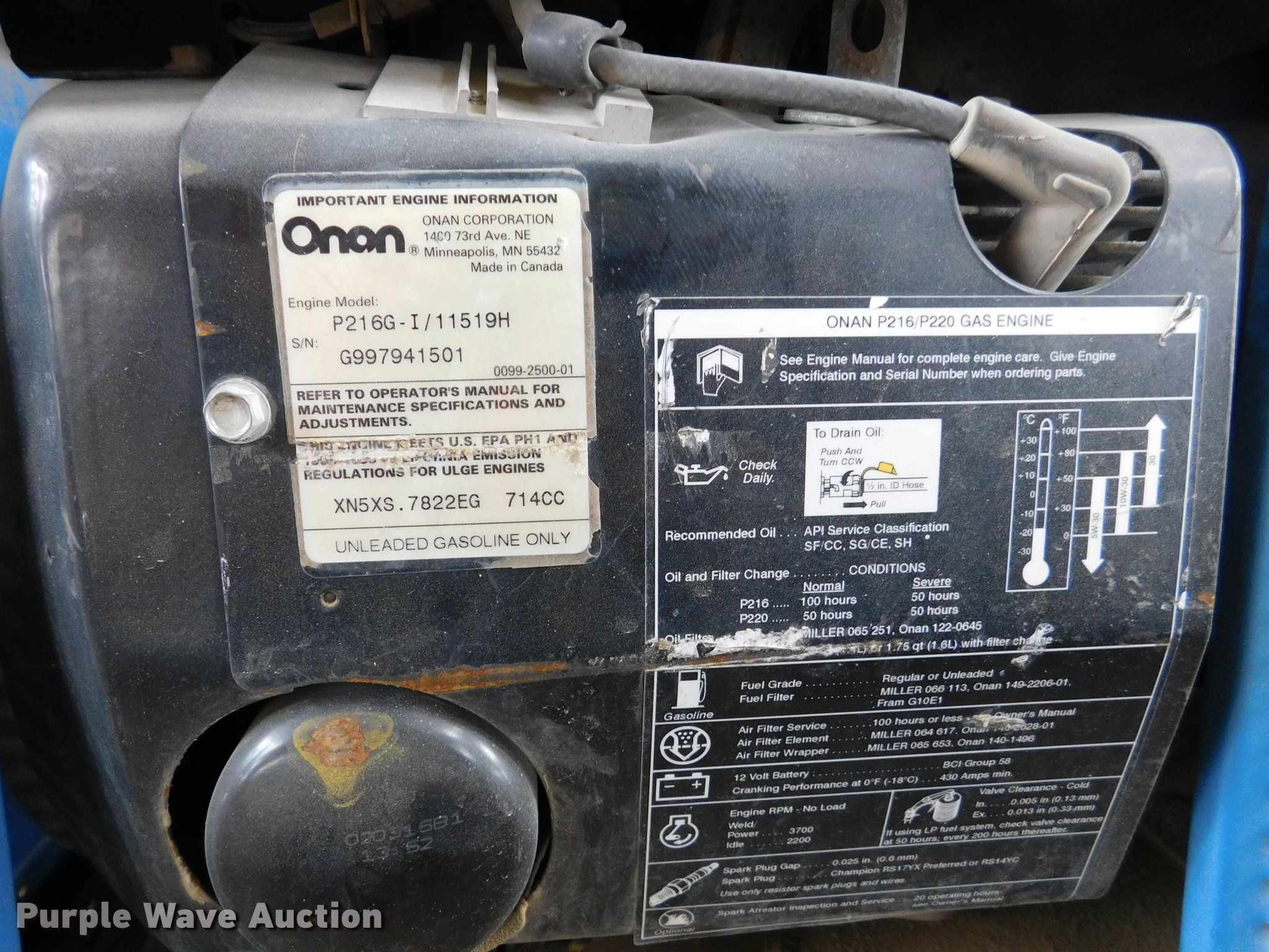 Miller Bobcat 225 welder | Item DL9717 | SOLD! June 7 Vehicl