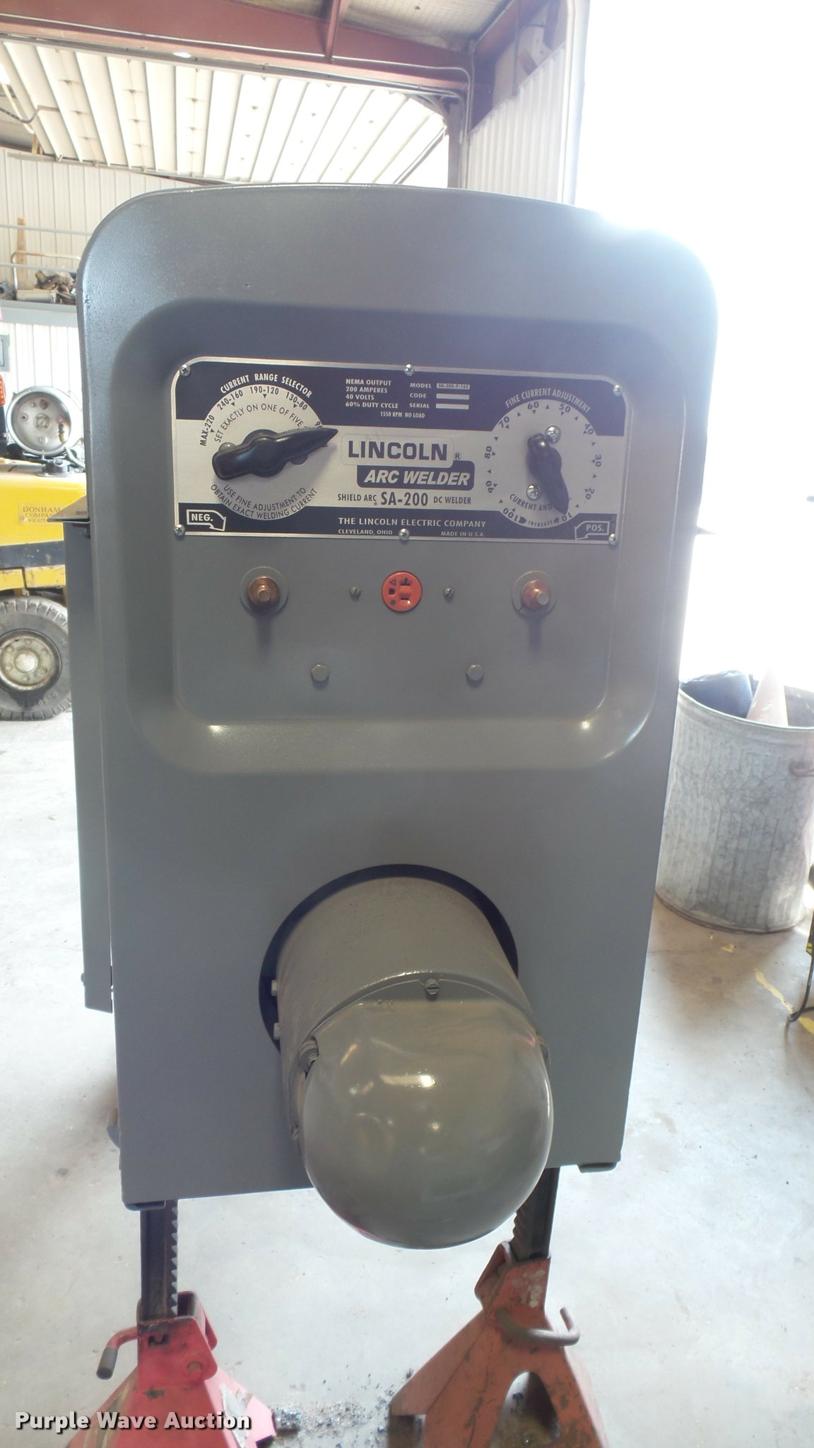 Lincoln Electric SA-200 welder   Item DQ9103   SOLD! June 7