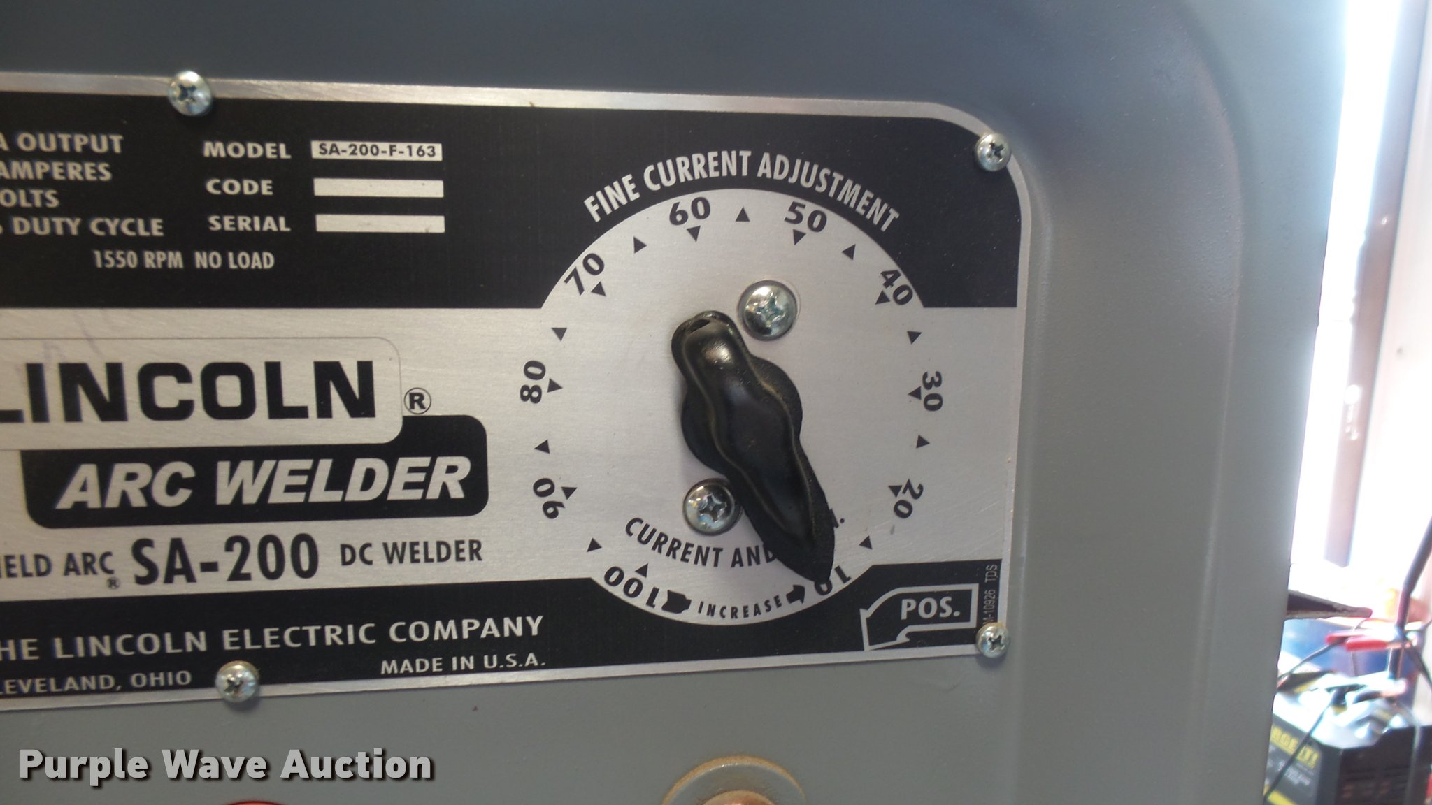 Lincoln Electric Sa 200 Welder Item Dq9103 Sold June 7 Gas Tank Full Size In New Window