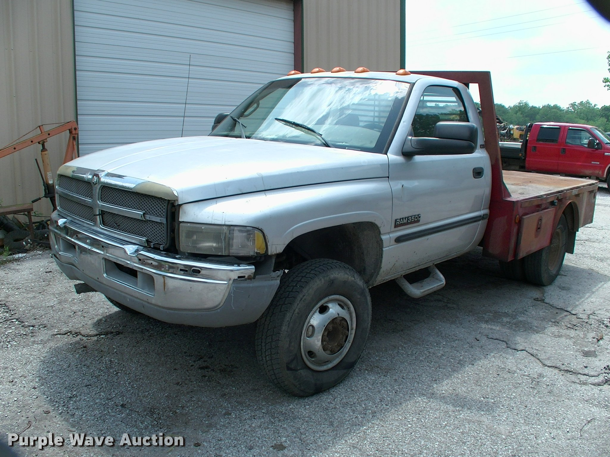 2001 Dodge Ram 3500 Flatbed Pickup Truck Item Dp9316 Sol Extended Cab Image For