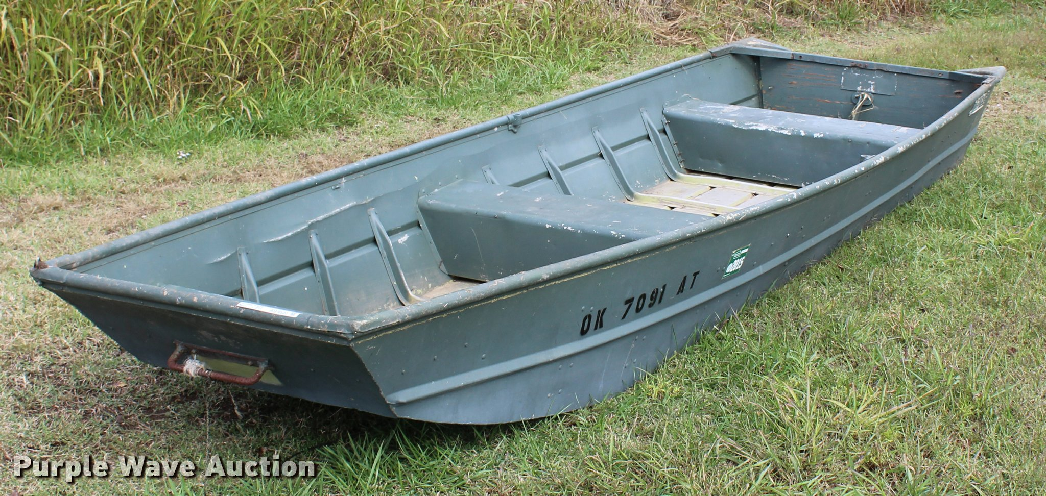 1974 Lowe Line Flat Bottom Boat Item Aq9520 6 20 2017