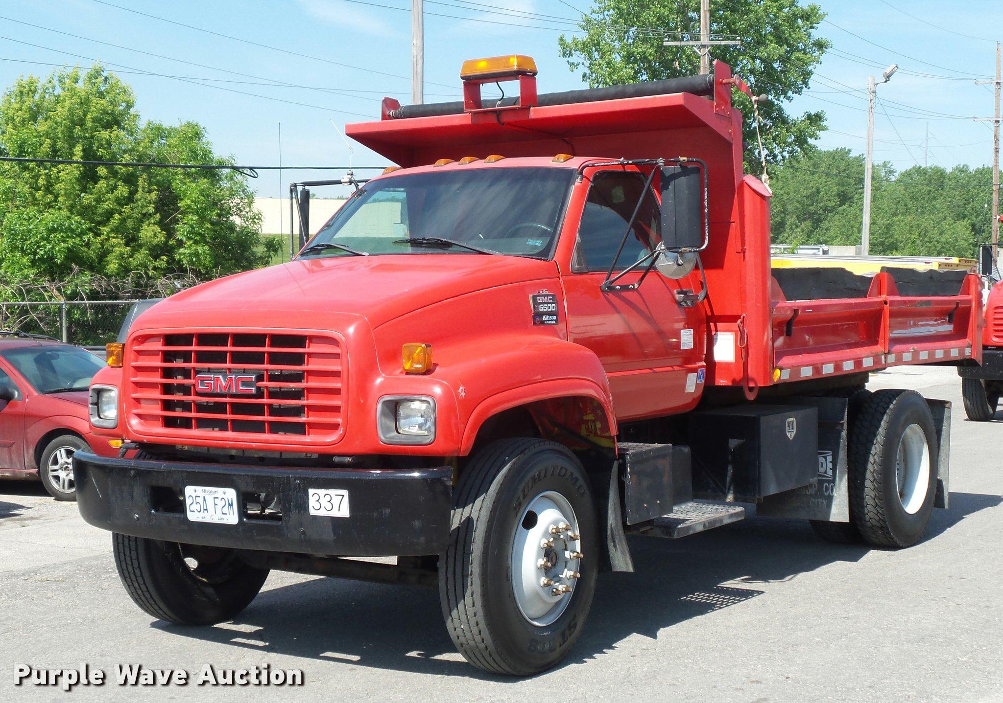 2001 gmc c6500 dump truck item dd9477 sold june 22 cons rh purplewave com 2001 GMC C6500 Transmission 2001 GMC C6500 Transmission