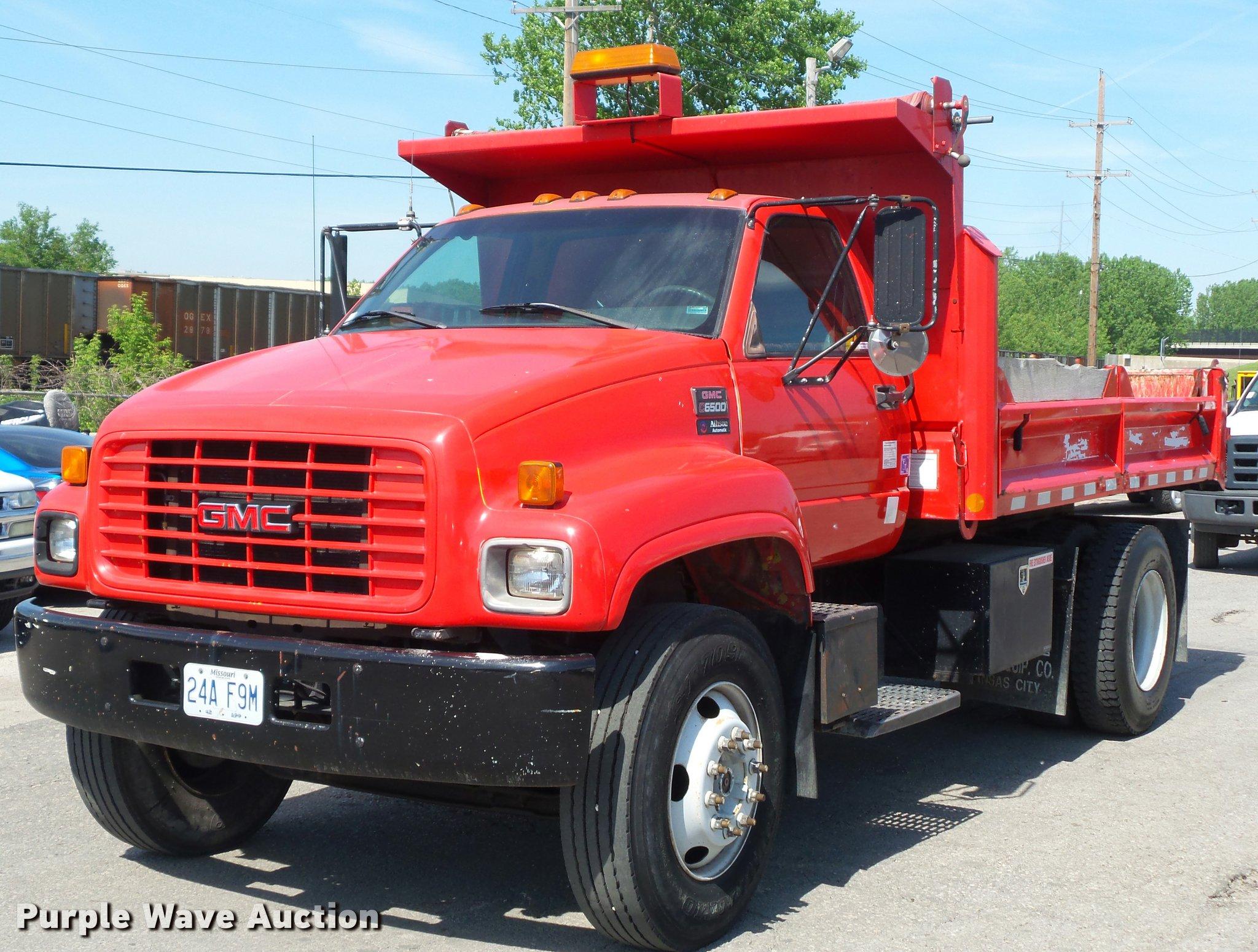 2001 gmc c6500 dump truck item dd9478 sold june 22 cons rh purplewave com C6500 Rollback 2001 GMC C6500 Transmission