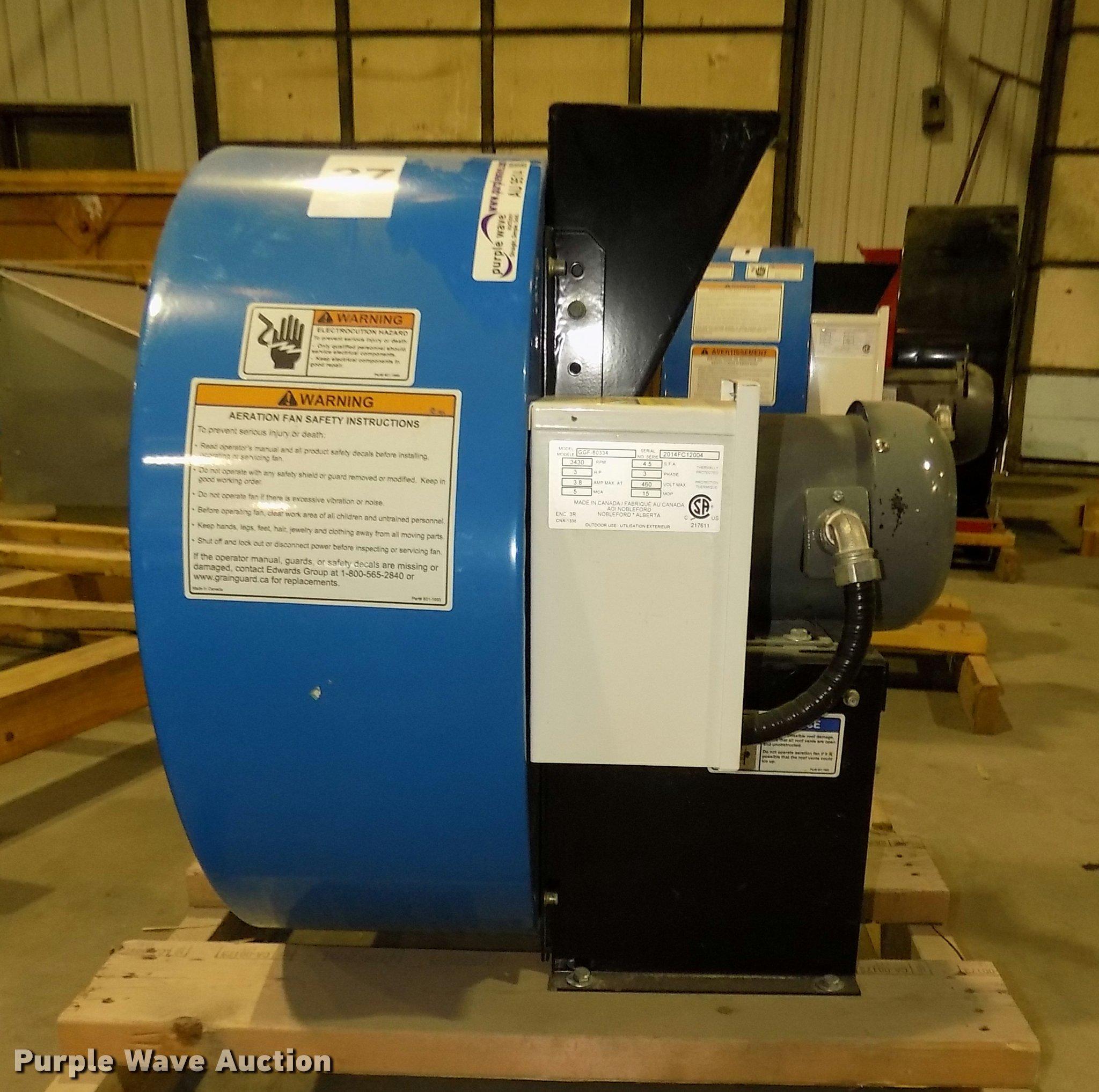 Grain Guard high speed centrifugal fan   Item AU9514   SOLD!