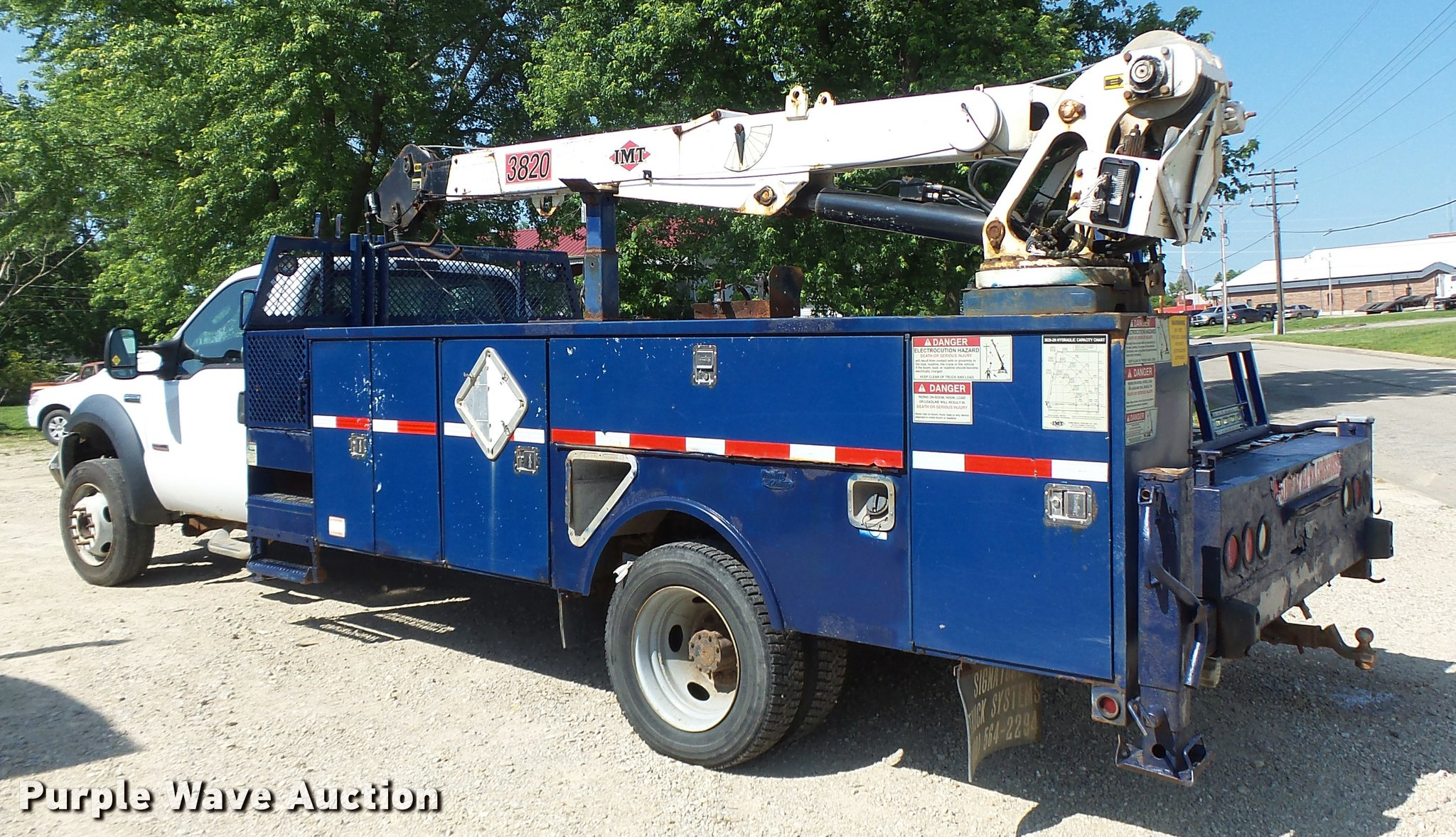 2006 Ford F550 Super Duty utility truck with crane | Item DB... Imt Crane Wiring Diagram on