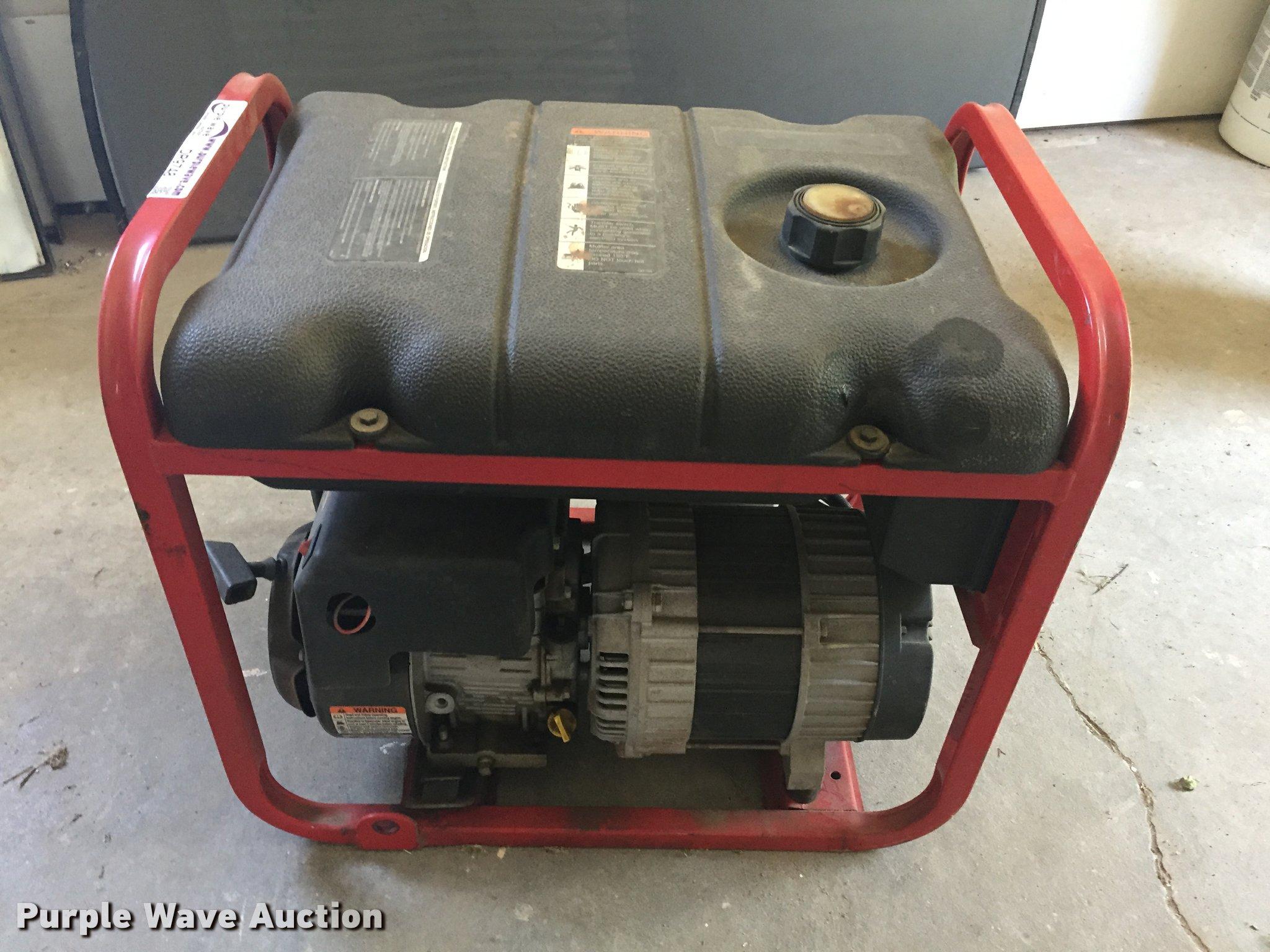 Troy-Bilt generator   Item DR9748   SOLD! July 11 Government