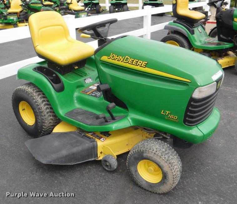 John Deere B Hood : John deere lt riding lawn mower item by sold