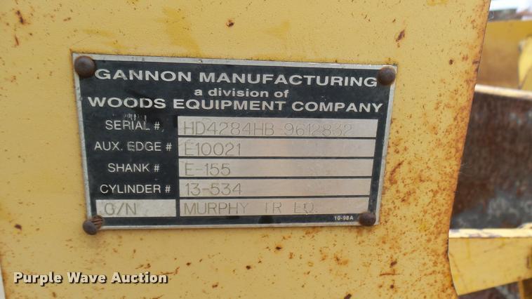 Gannon box blade | Item AR9851 | SOLD! July 20 Construction