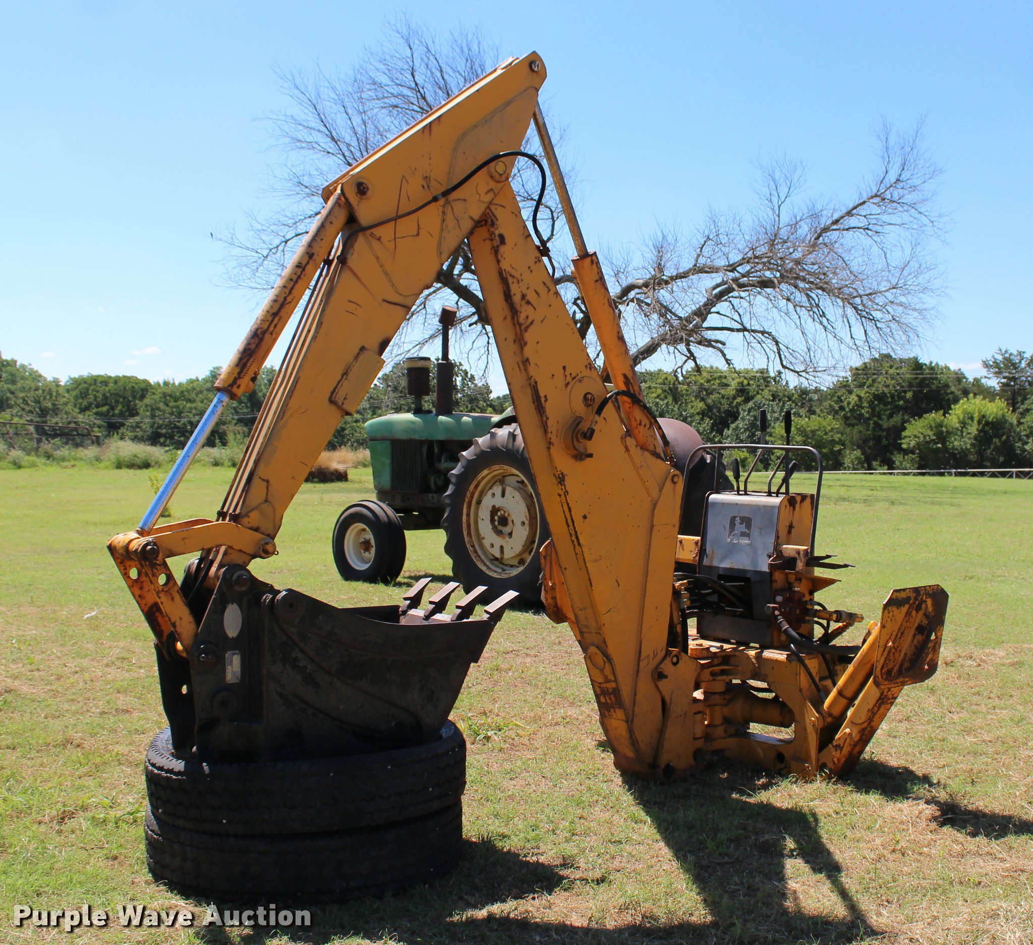 John Deere Backhoe Attachment >> John Deere 9250 Backhoe Attachment Item L3163 Sold July