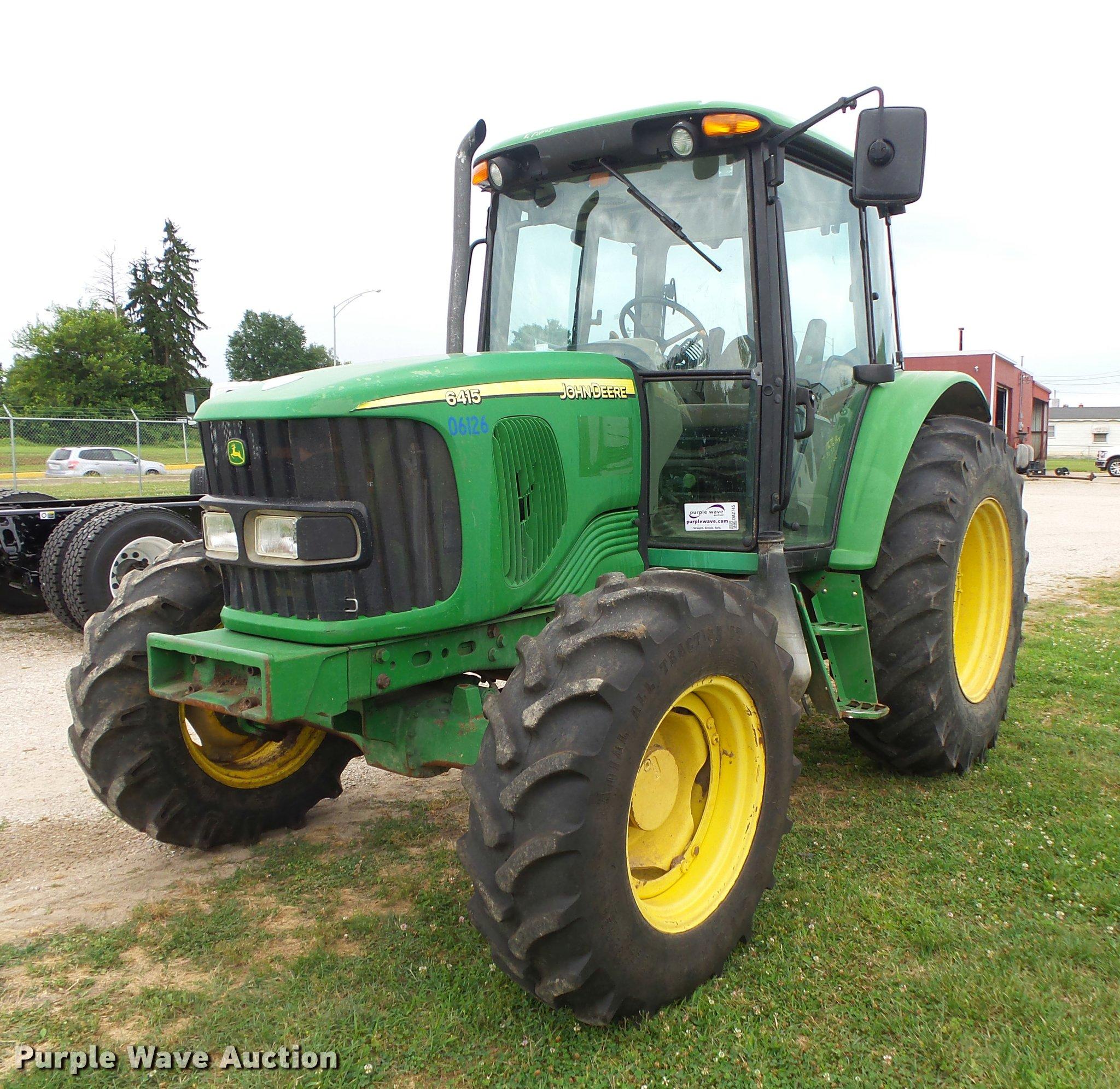 DA2745 image for item DA2745 2007 John Deere 6415 MFWD tractor