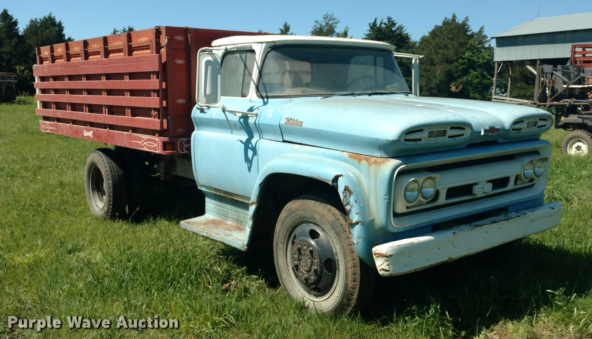 1961 Chevrolet C60 Viking Grain Truck Item Db0987 Sold Chevy Crew Cab Image For