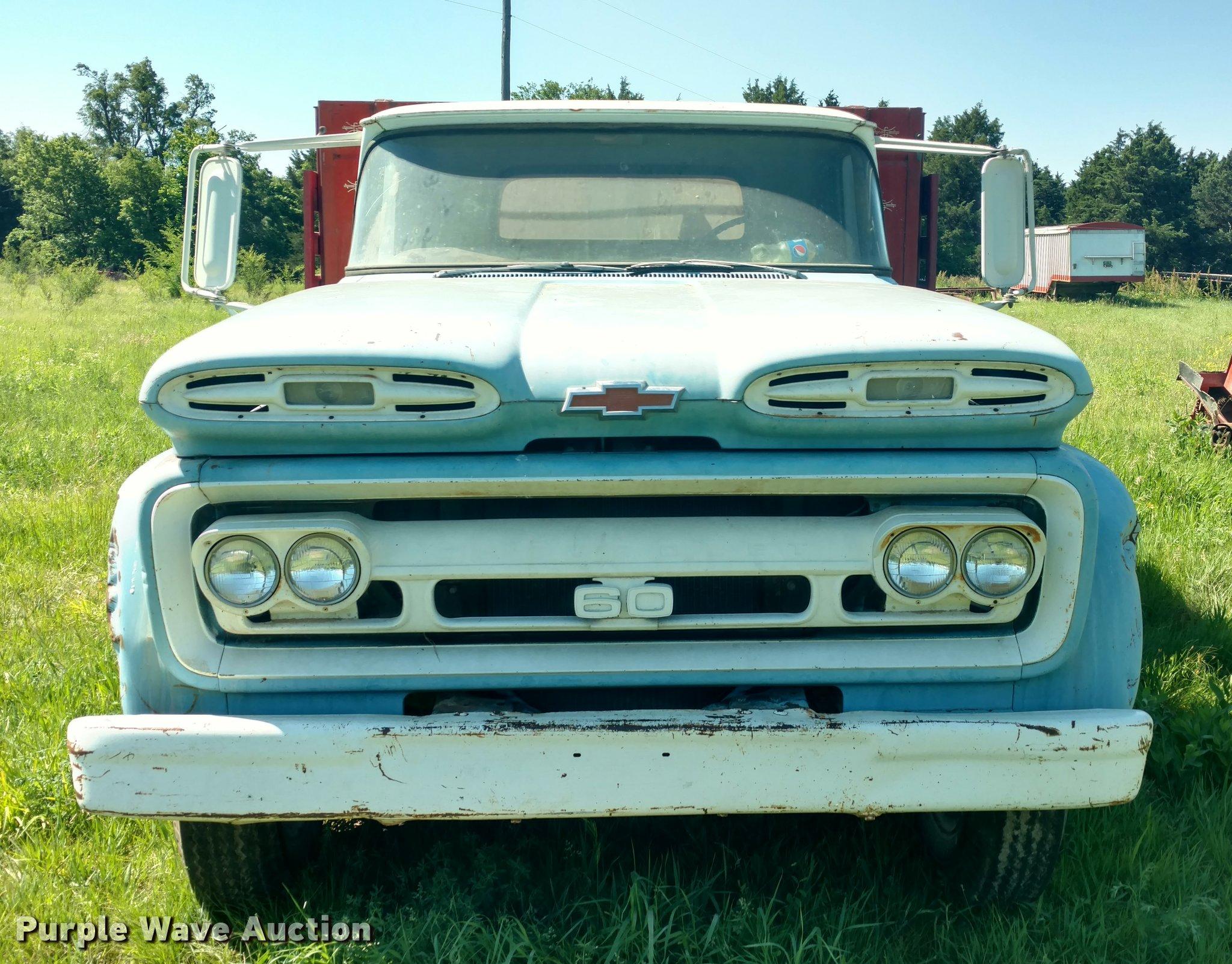 1961 Chevrolet C60 Viking Grain Truck Item Db0987 Sold Chevy Crew Cab Full Size In New Window