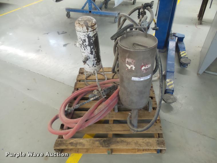 3) soda blaster sand blast unit | Item DE9101 | SOLD! Augus
