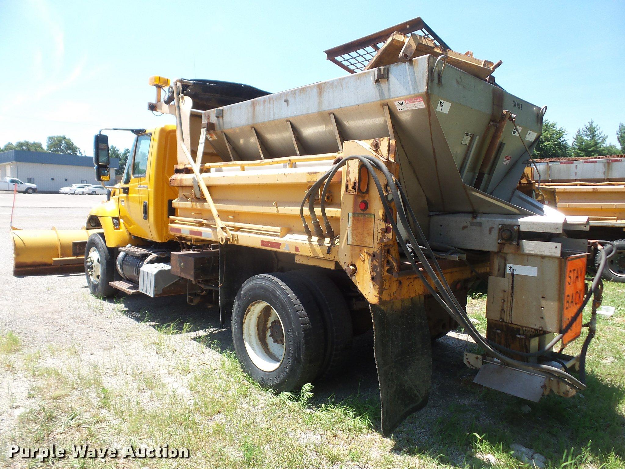 2002 International 7400 Dump Truck Item Da1596 Sold Aug Air Tank Schematic Full Size In New Window