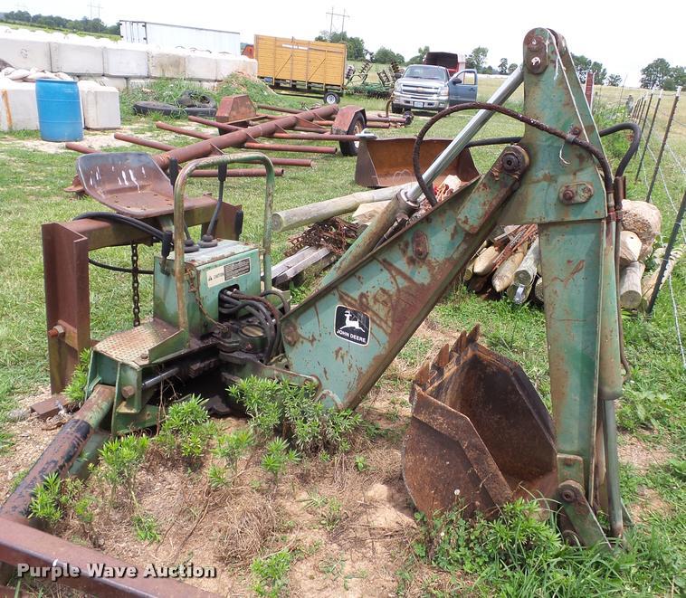 John Deere backhoe attachment | Item K3257 | SOLD! August 9