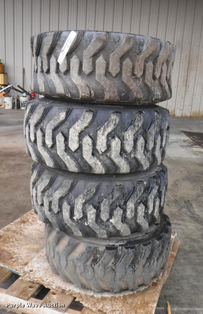 official photos f602e d3e68 4) Carlisle Trac Chief XL 12-16.5 tires | Item BY9819 | SOL...