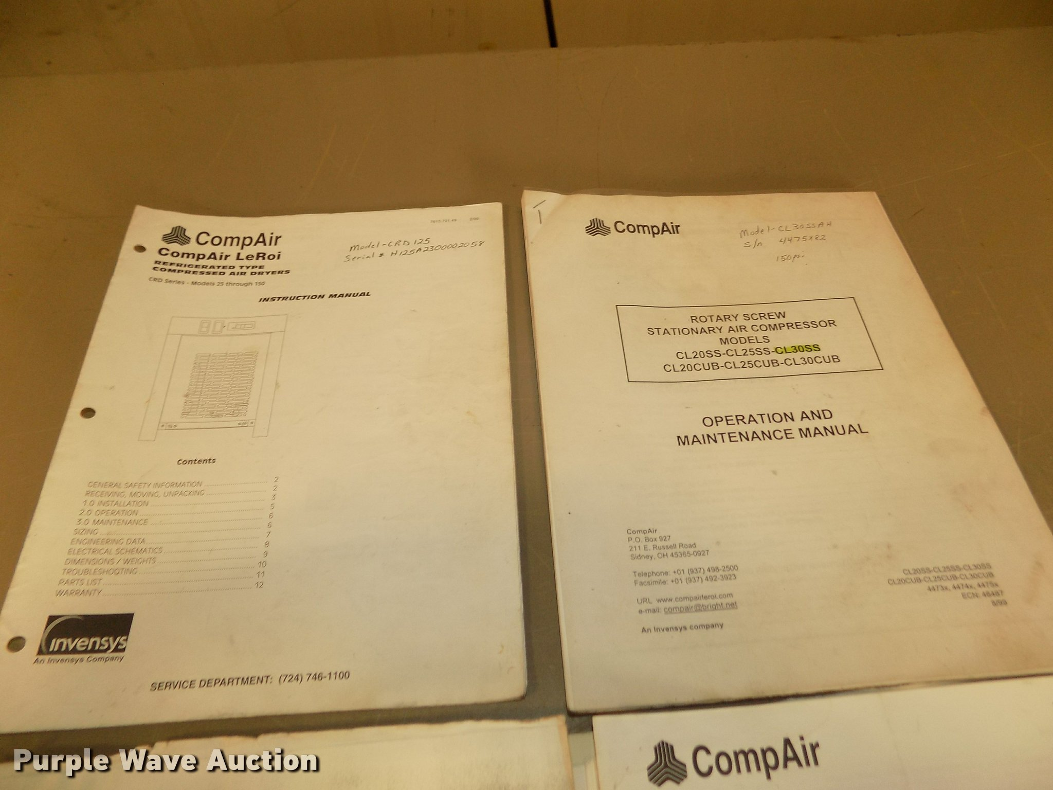 ... Array - compair leroi cl30ssah rotary screw air compressor with drye rh  purplewave com