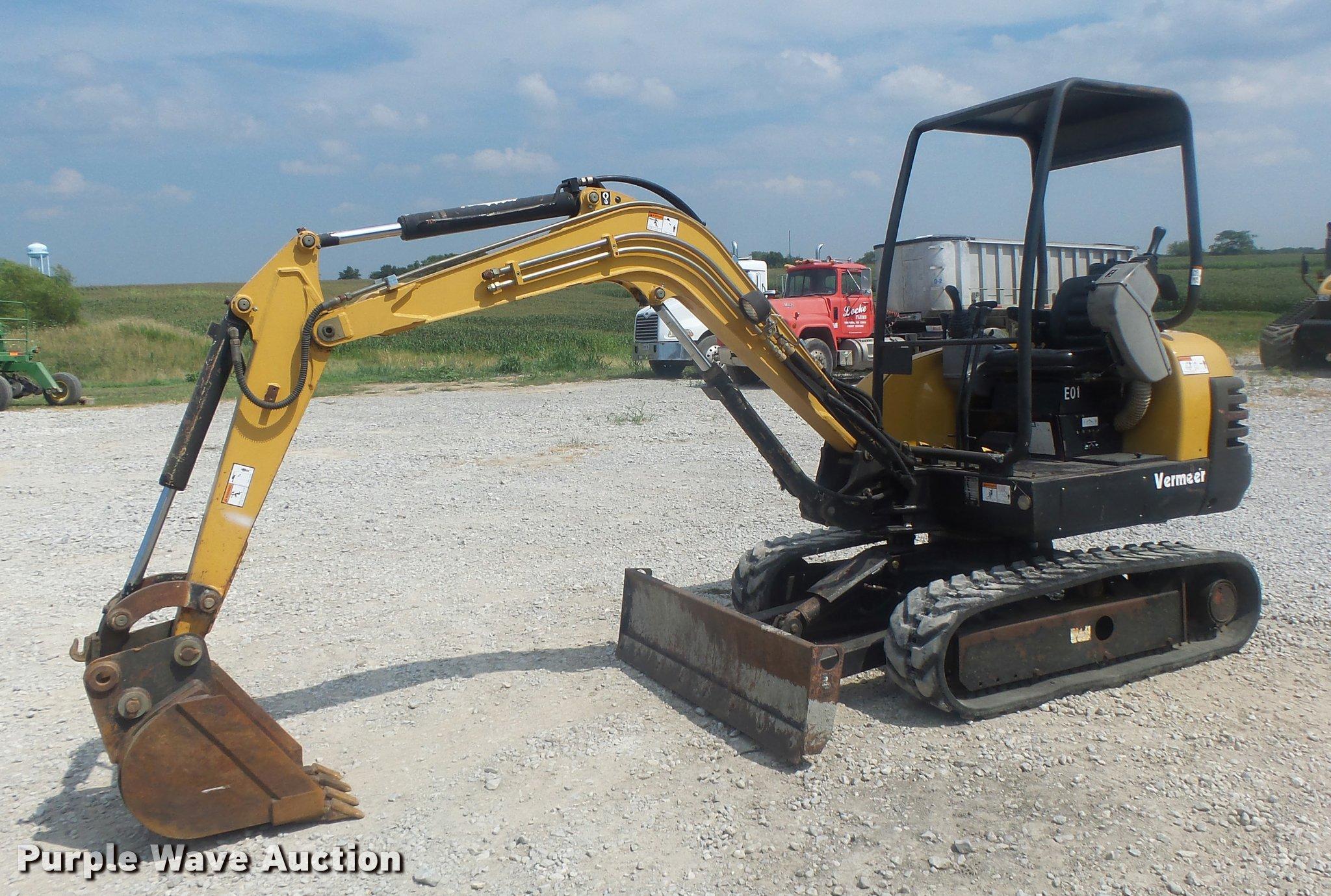 2003 vermeer cx224 mini excavator item db1410 8 17 2017  mini excavator rubber tracks 300x52
