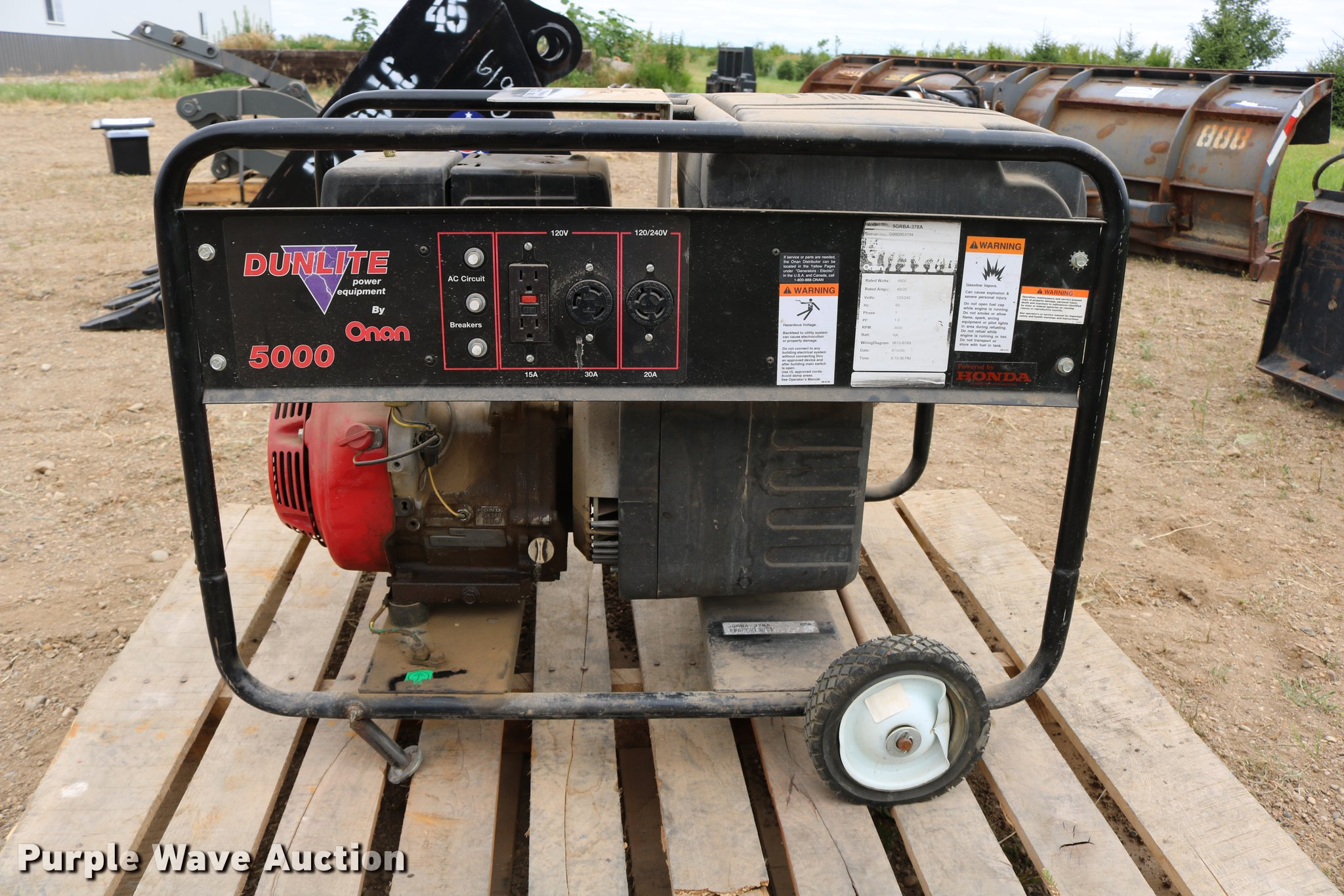Onan dunlite power equipment 5grba 378a generator item dm9 full size in new window cheapraybanclubmaster Image collections