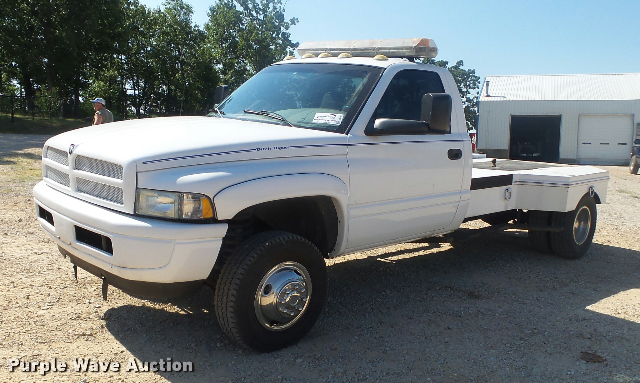 1998 Dodge Ram 3500 Flatbed Pickup Truck In Camdenton Mo Item Db7451 Sold Purple Wave