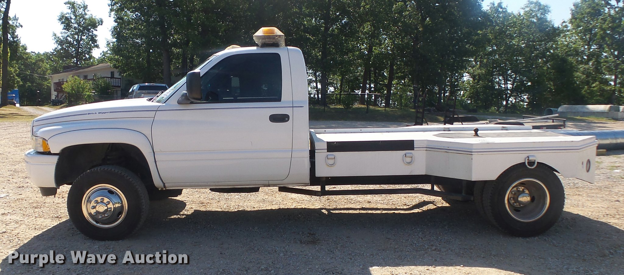 1998 Dodge Ram 3500 Flatbed Pickup Truck Item Db7451 Sol Wiring Full Size In New Window