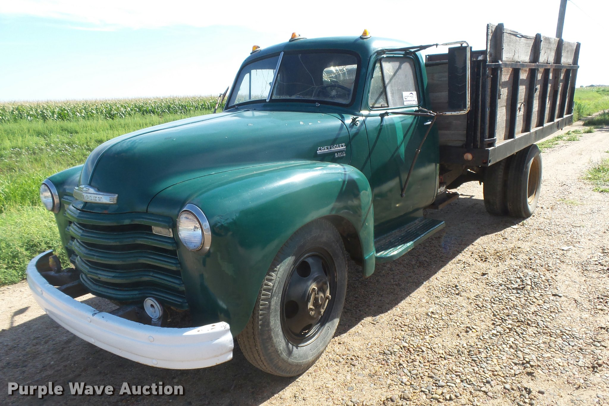 1951 Chevrolet 6400 Grain Truck Item Dc3945 Sold August Chevy Seats Image For