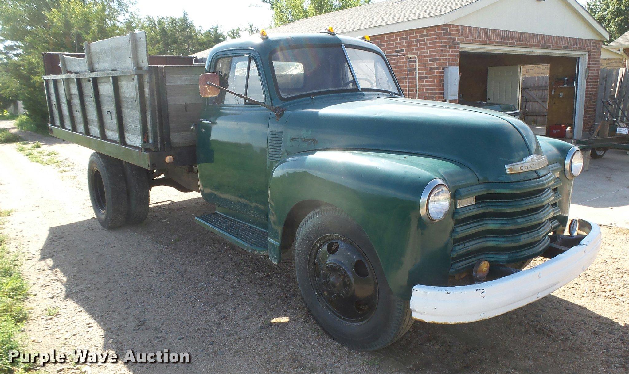 1951 Chevrolet 6400 Grain Truck Item Dc3945 Sold August Dump Full Size In New Window