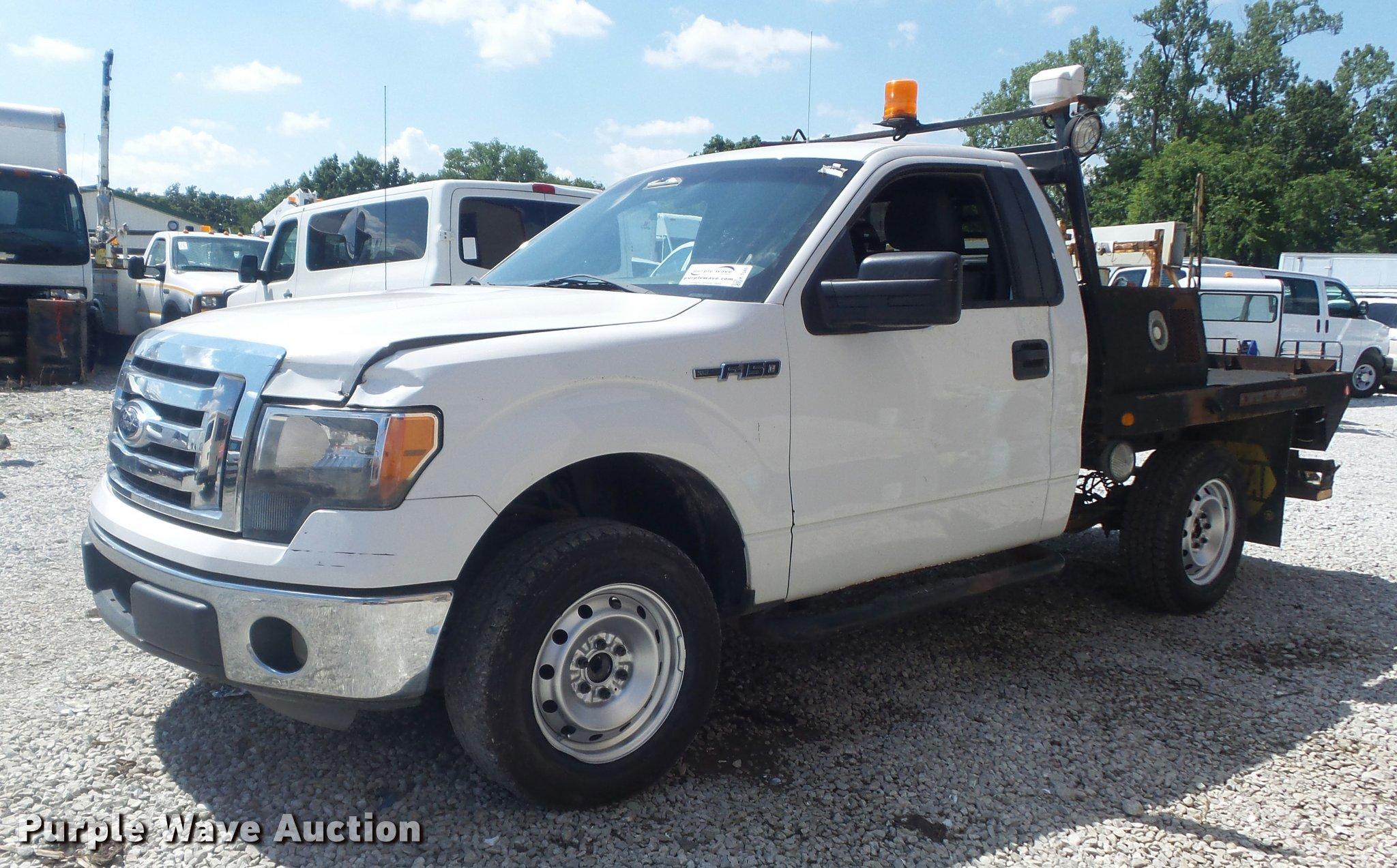 2011 Ford F150 Xlt Flatbed Pickup Truck Item K7548 Sold