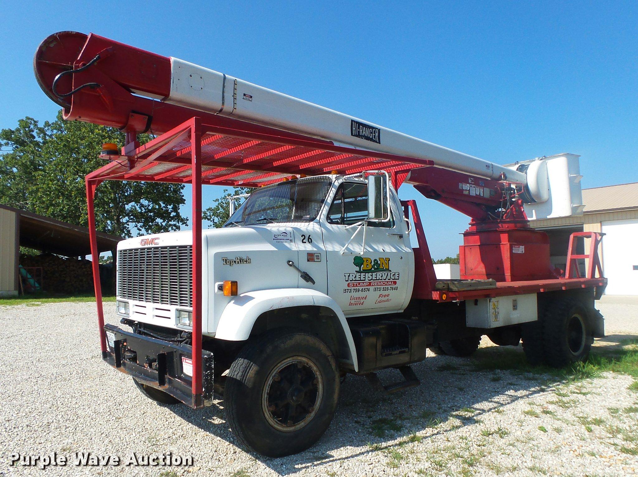DB7460 image for item DB7460 1989 GMC TopKick 7000 bucket truck