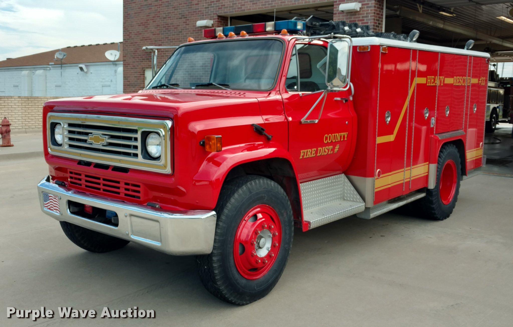 1980 Chevrolet C60 fire truck | Item DI9840 | SOLD! Septembe
