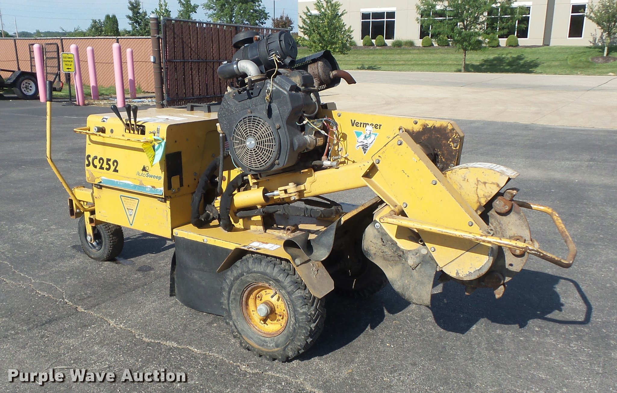 Vermeer Stump Grinder For Sale >> 2001 Vermeer Sc252 Stump Grinder Item K7504 Sold Septem
