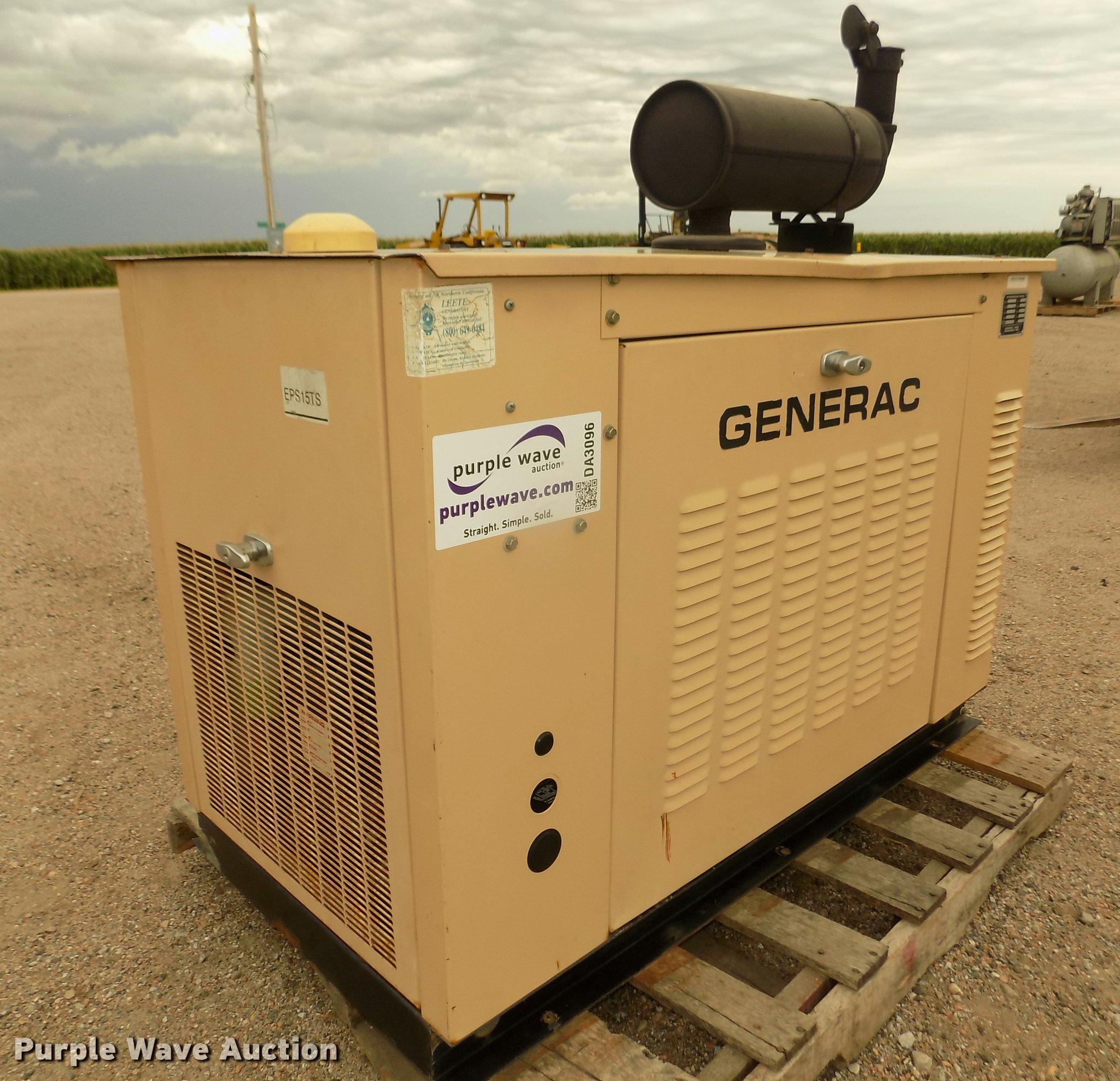 Generac 4 generator Item DA3096