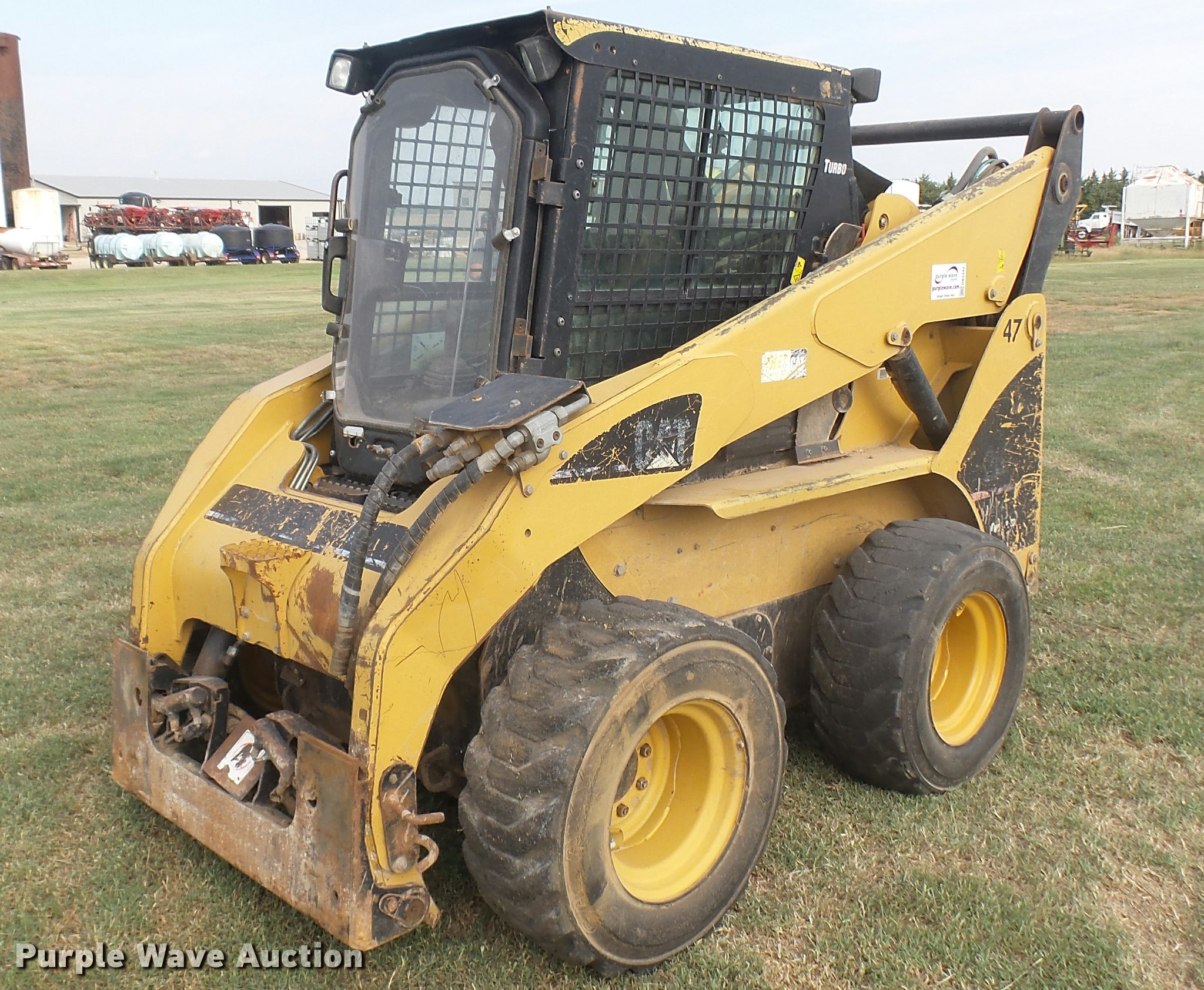 2007 caterpillar 268b skid steer item db3442 sold septe rh purplewave com Cat Skid Steer Hydraulic Problems Cat 287B