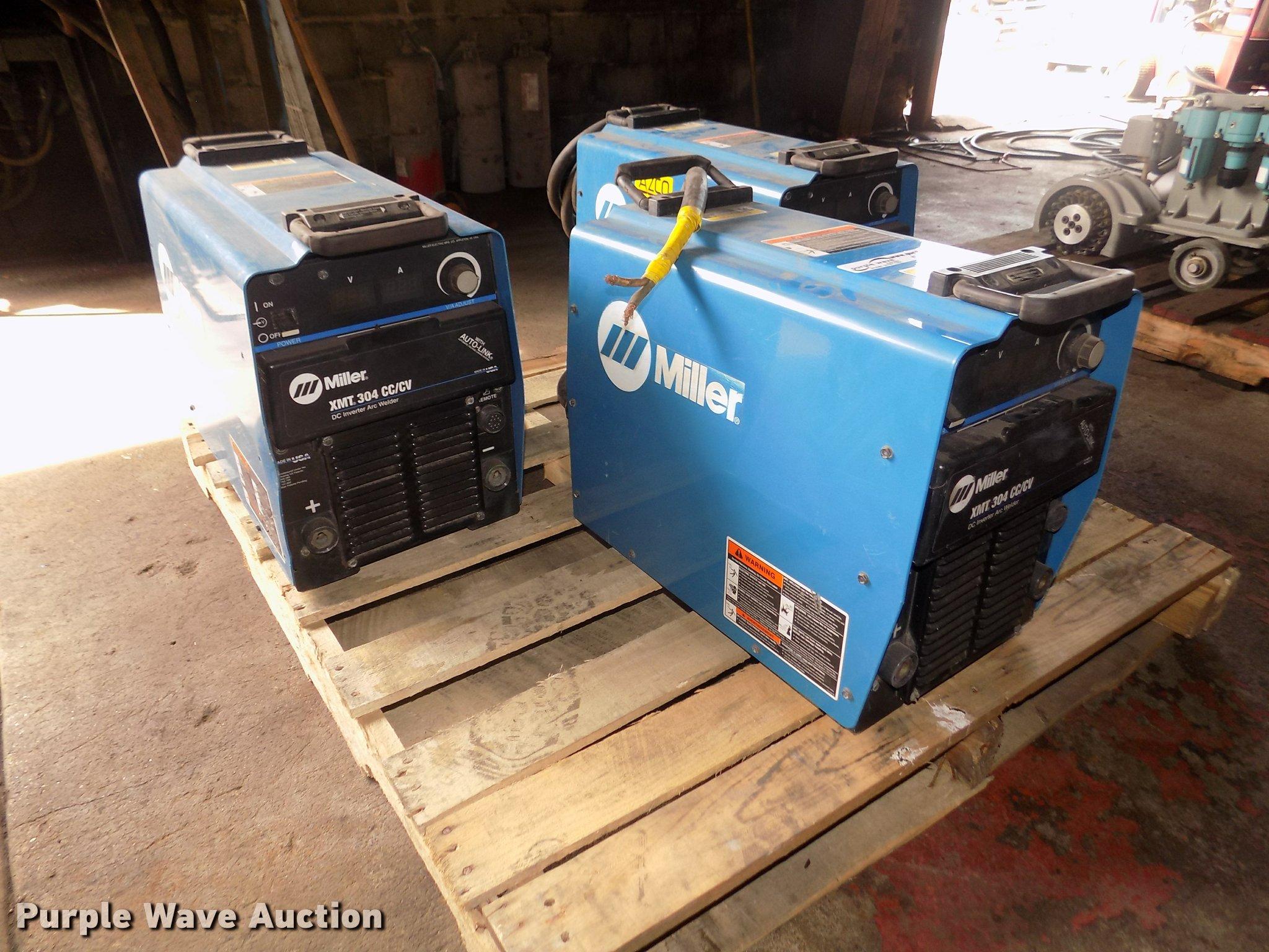 3) Miller XMT 304 CC/CV arc welders | Item DO9161 | SOLD! S
