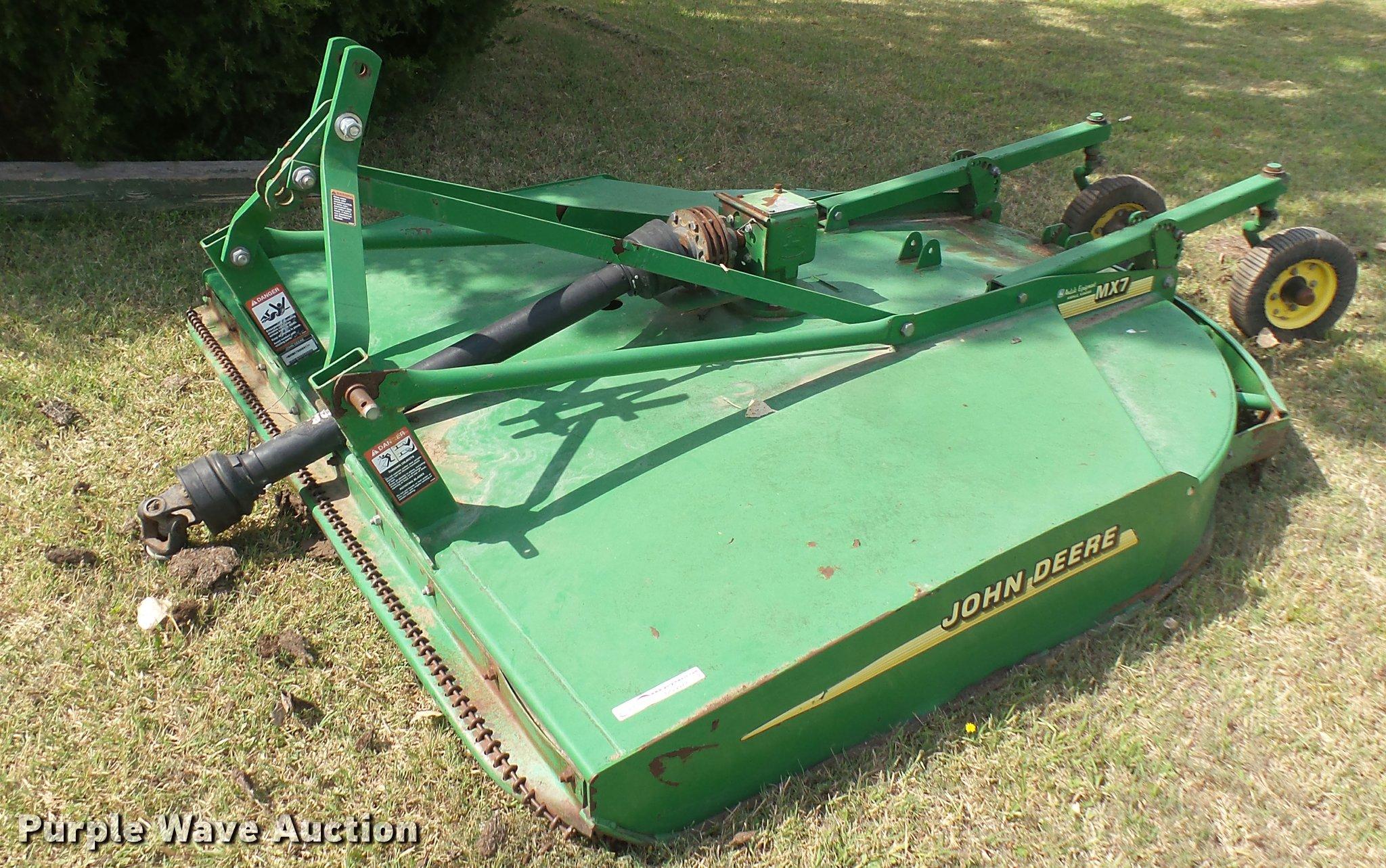 John Deere MX7 rotary mower | Item DO9977 | SOLD! September