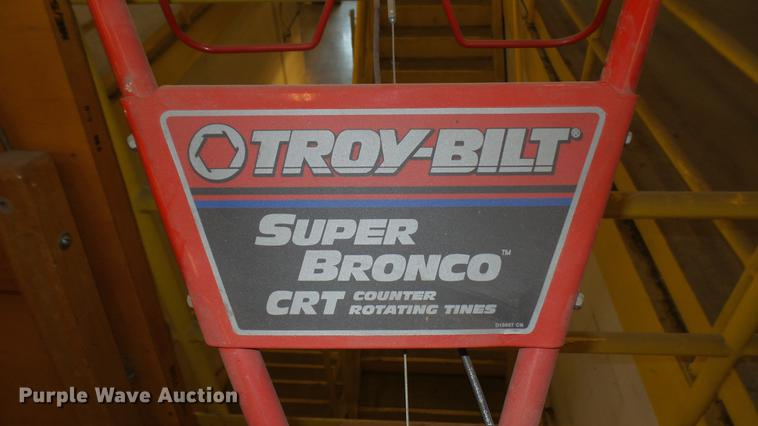 ... DE9715 Image For Item DE9715 Troy Bilt Super Bronco CRT Rear Tine Tiller
