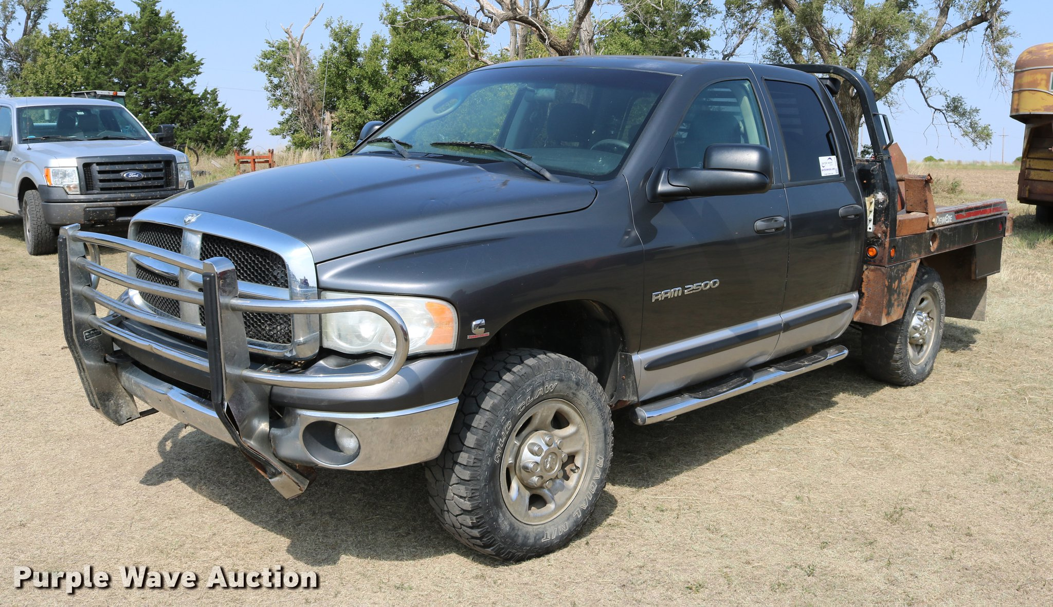 2004 Dodge Ram 2500 Quad Cab Flatbed Pickup Truck In Hunter Ks Item Dd0165 Sold Purple Wave