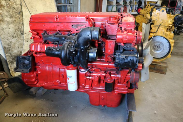 Cummins ISX six cylinder turbo diesel engine   Item DM9260  