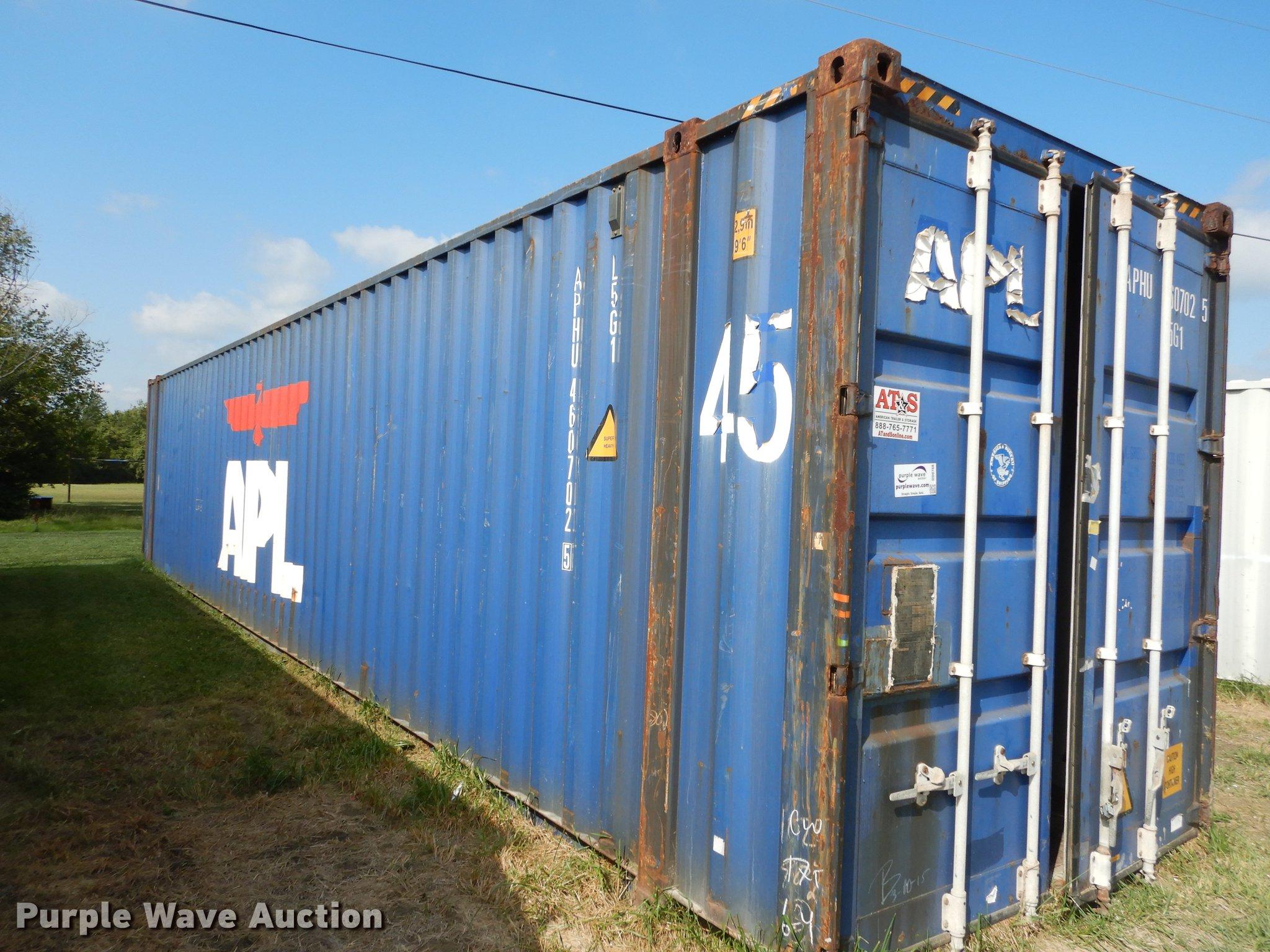 2004 APL Conex storage container Item DD0768 SOLD Octob