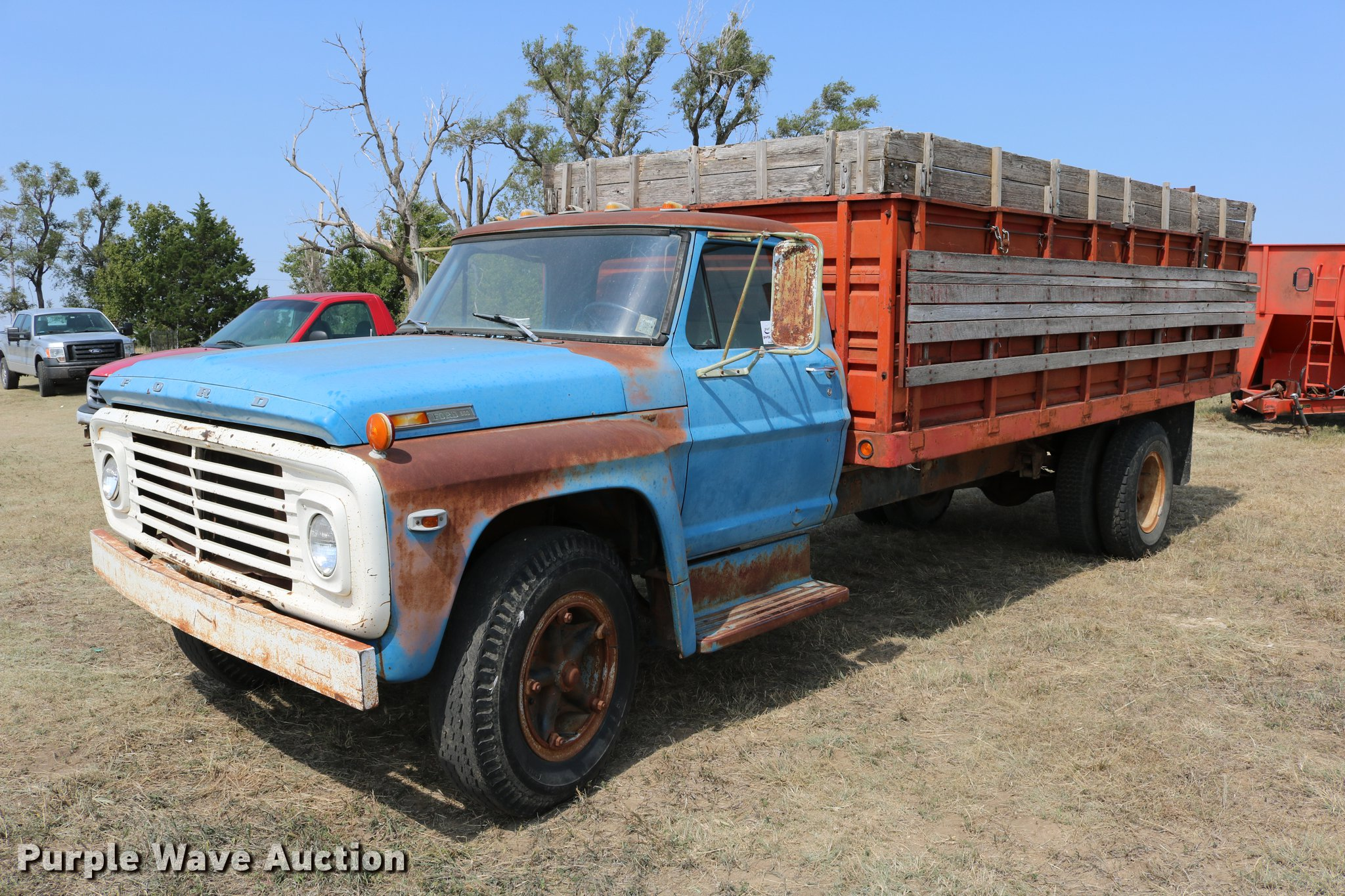 1971 Ford F600 Grain Truck Item Dd0163 Sold October 18 F100 Short Bed For Sale Image