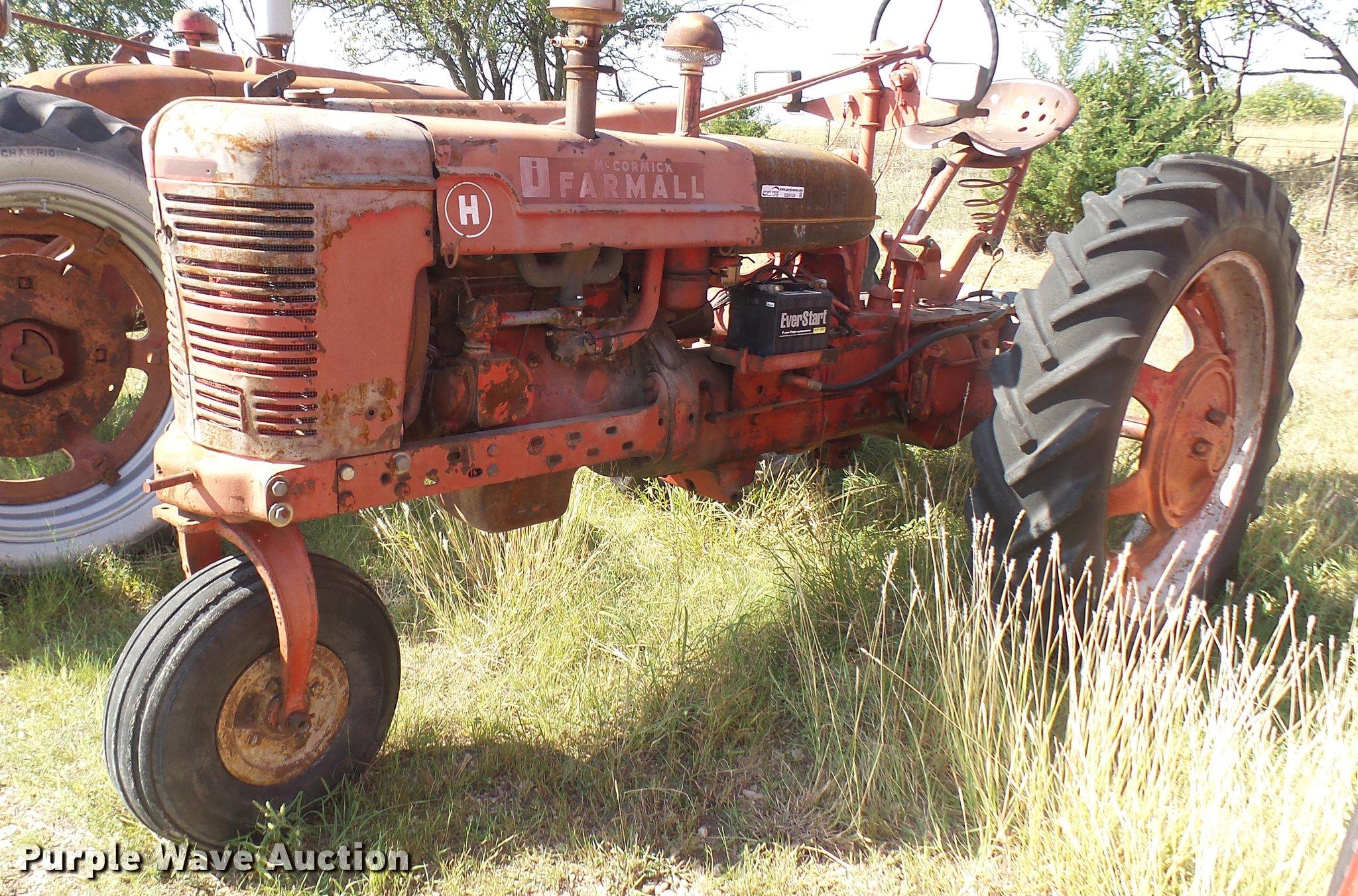 1941 McCormick Farmall H tractor   Item EB9159   SOLD! Octob