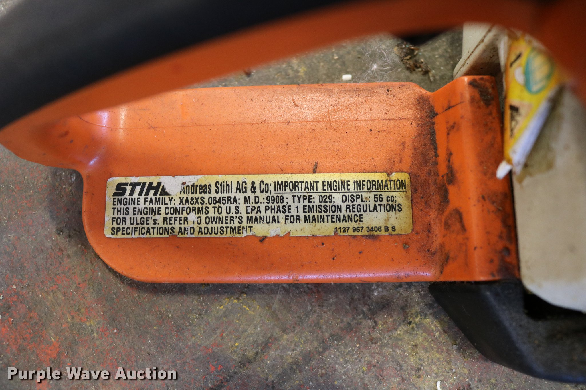 Stihl 029 Super chainsaw | Item DW9835 | SOLD! October 24 Ka
